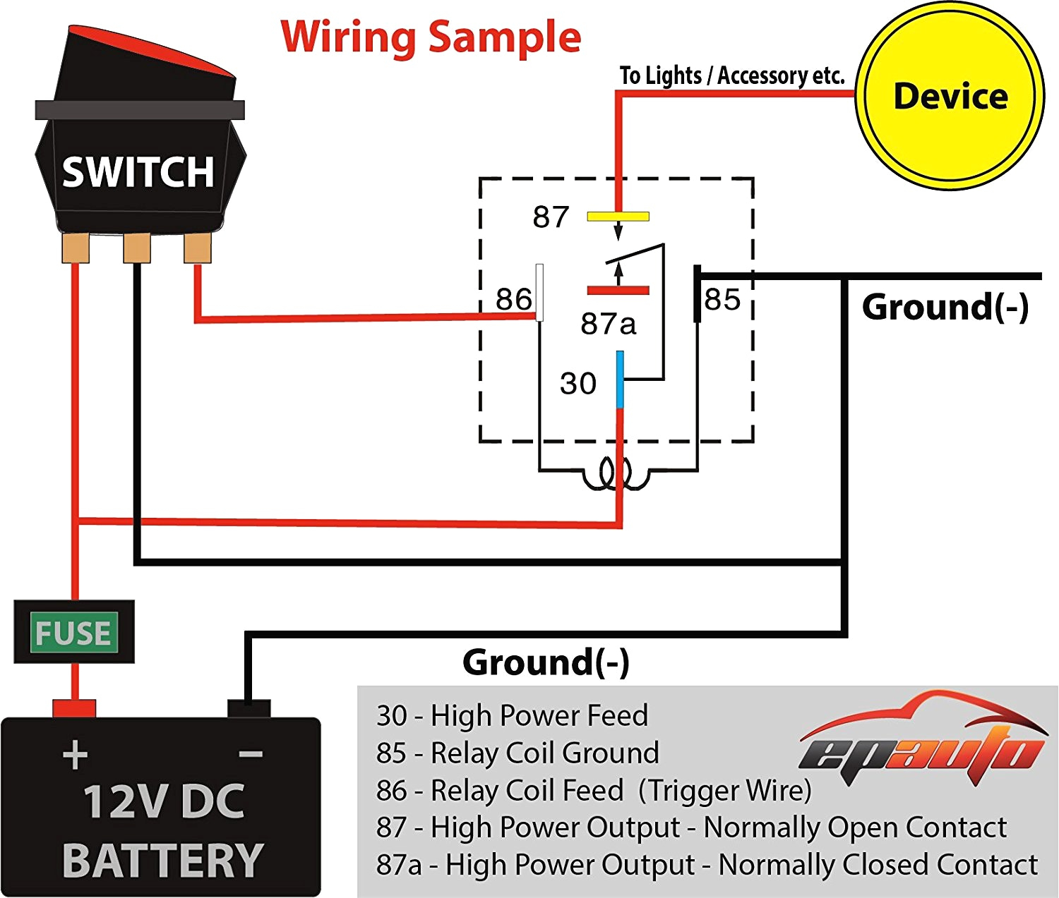 12 Volt Relay Wiring Diagram 6 Pole