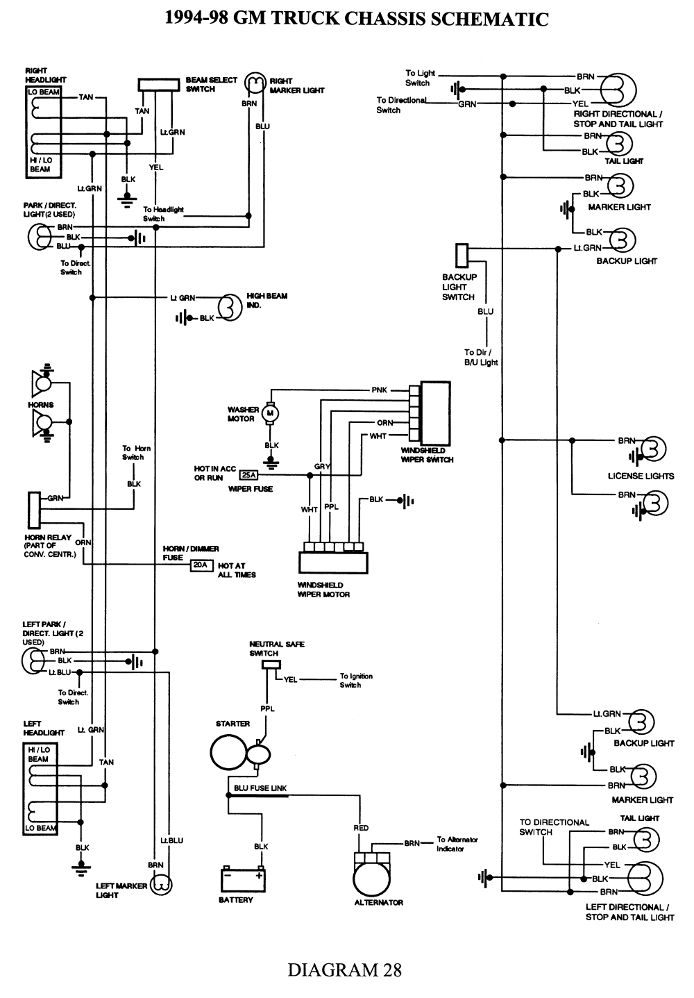 1995 Chevy Silverado Trailer Wiring Diagram Sample