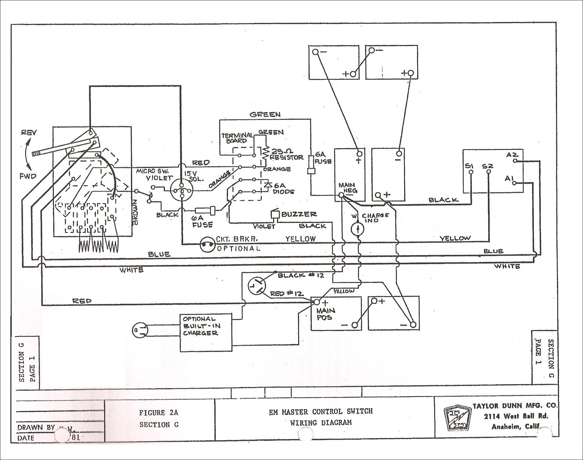1992 Ezgo Gas Golf Cart Wiring Diagram Wiring Diagram View A View A Zaafran It