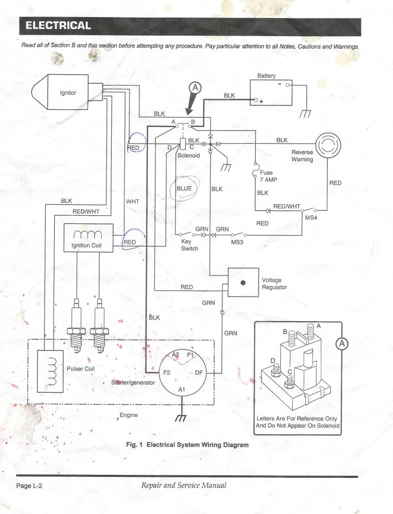1996 Ez Go Wiring Diagram Sample