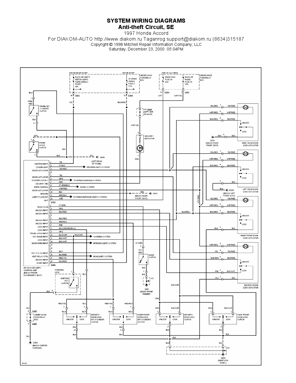 1996 honda accord ignition wiring diagram Collection-Honda Wiring Diagrams Lovely 1994 Honda Accord Wiring Diagram & Honda Civic Ignition Wiring 13-f