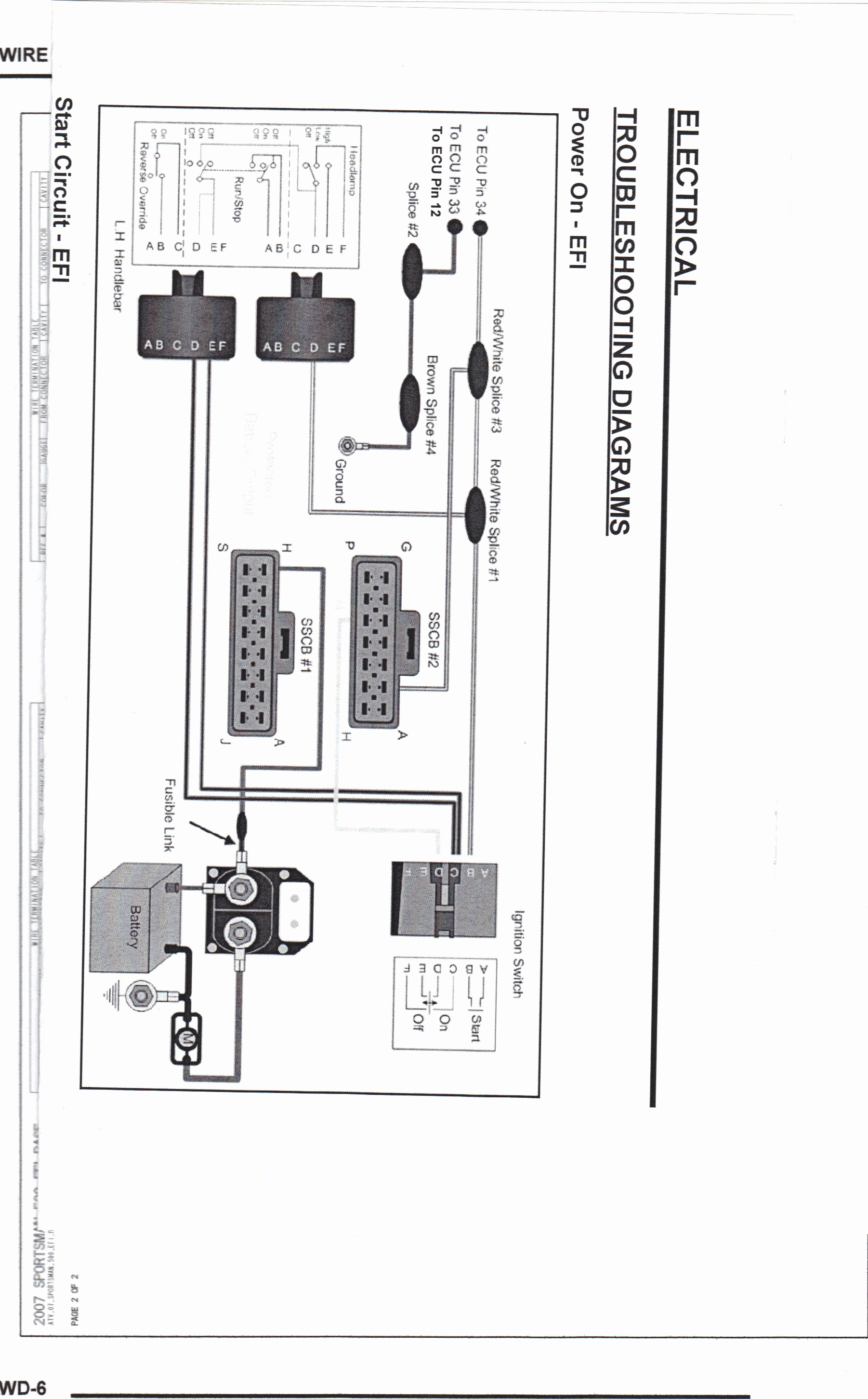 1999 Sportsman 500 Wiring Diagram