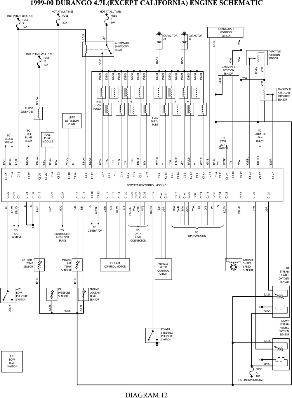 Electrical Wiring Diagrams Dodge Dakota