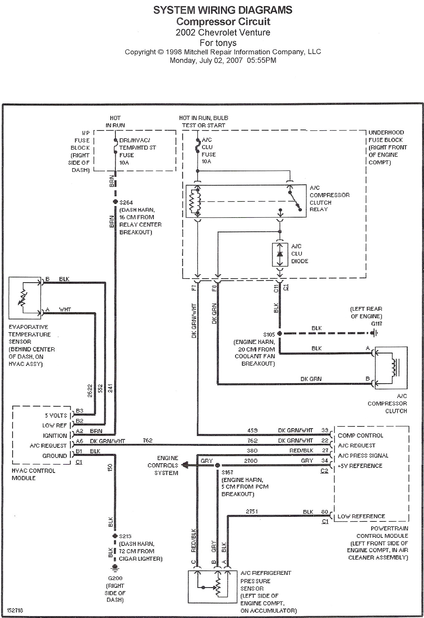 2003    Chevy       Venture       Wiring       Diagram    Collection