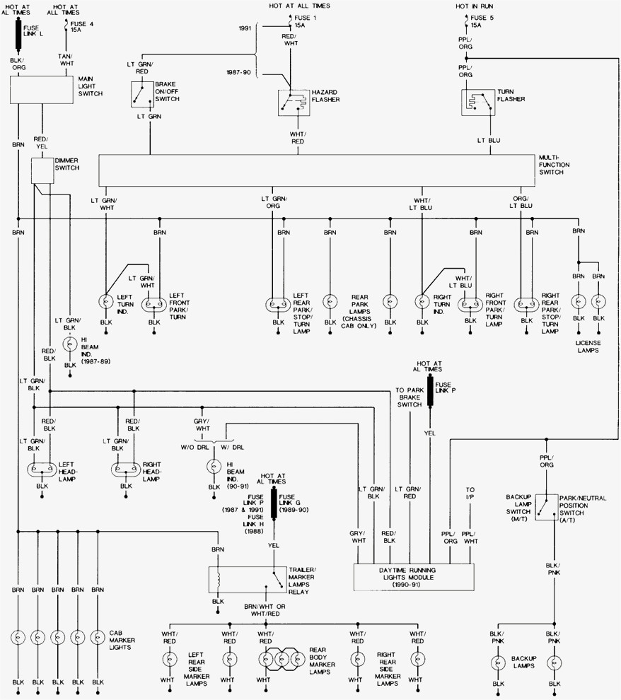 Diagram  I Am Looking For The Taillight Wireing Circuits