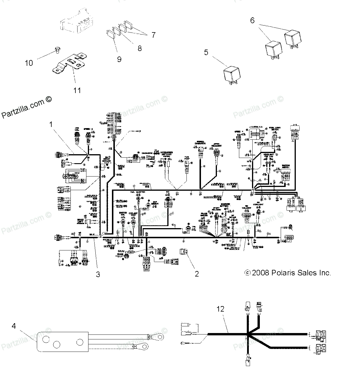 2004 Polaris Sportsman 400 Wiring Diagram Electrical 1996 500 Stator Sample 700 Accessories