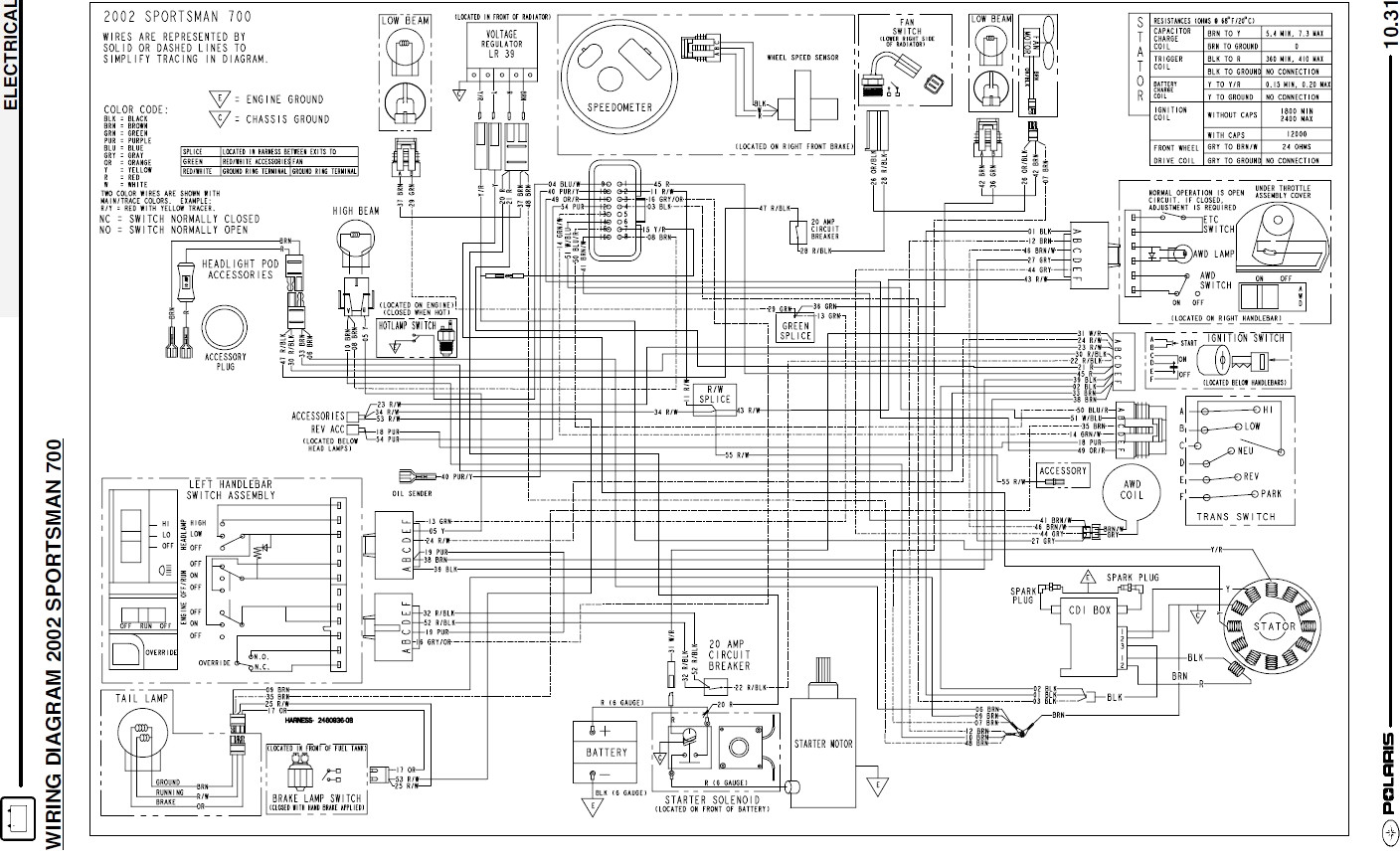 2004    Polaris    Sportsman 400    Wiring       Diagram    Sample