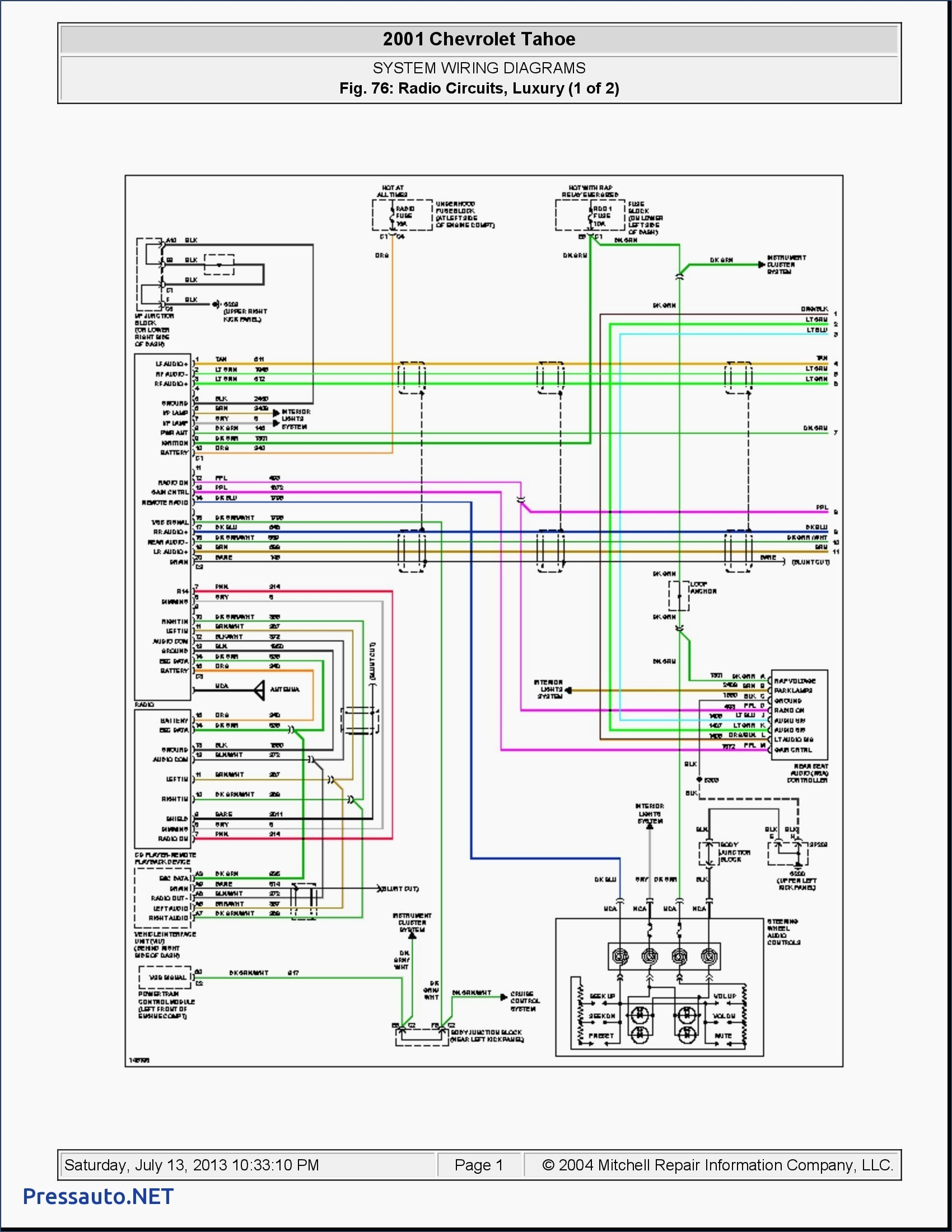 2014 Chevy Cruze Radio Wiring Diagram - 2001 Chevy Tahoe Radio Wiring  Diagram Wiring Diagram U2022