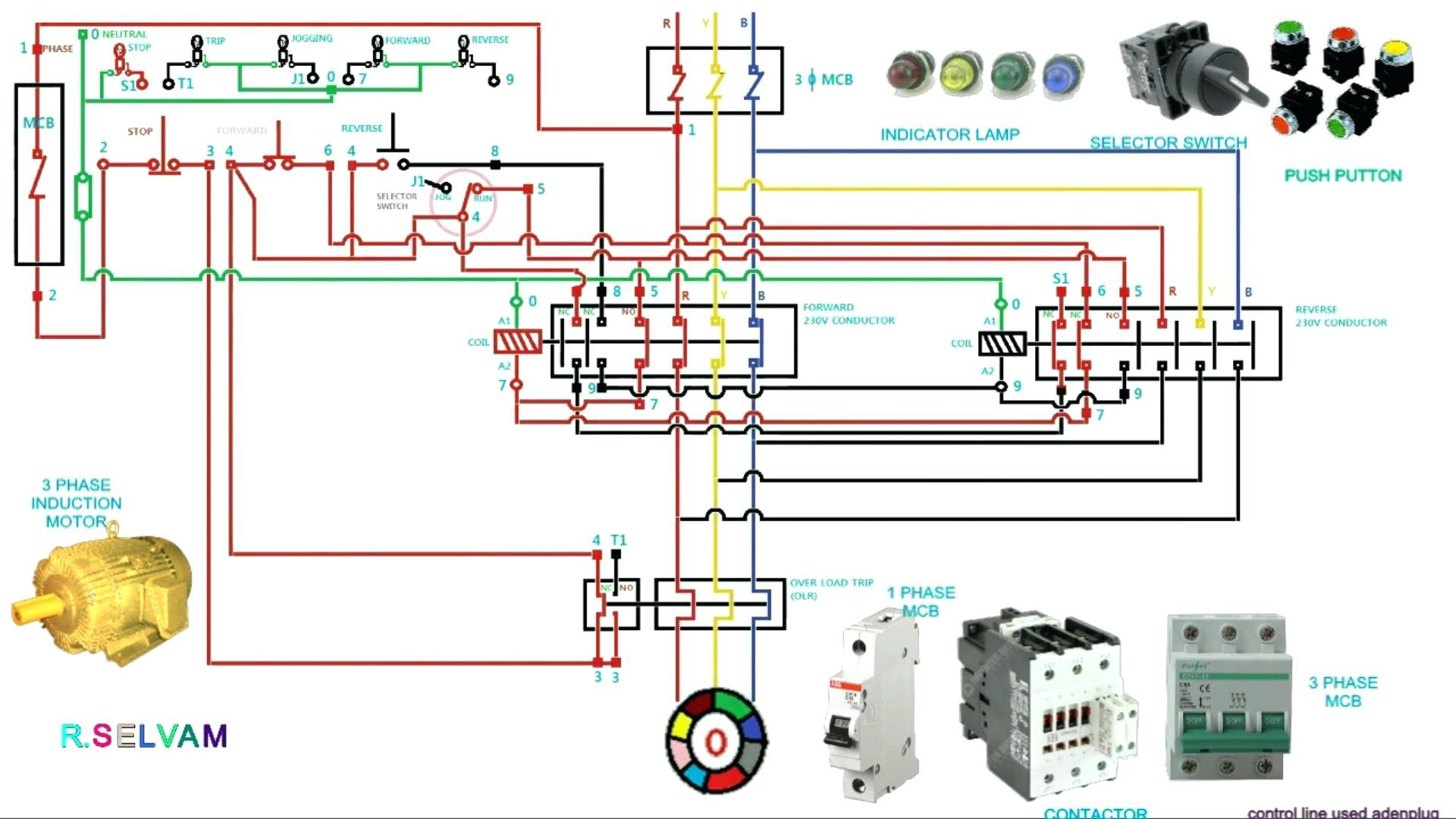 3 phase contactor wiring diagram start stop Collection-3 phase contactor wiring diagram start stop Download Circuit Diagram Contactor Best 3 Phase Motor 8-k