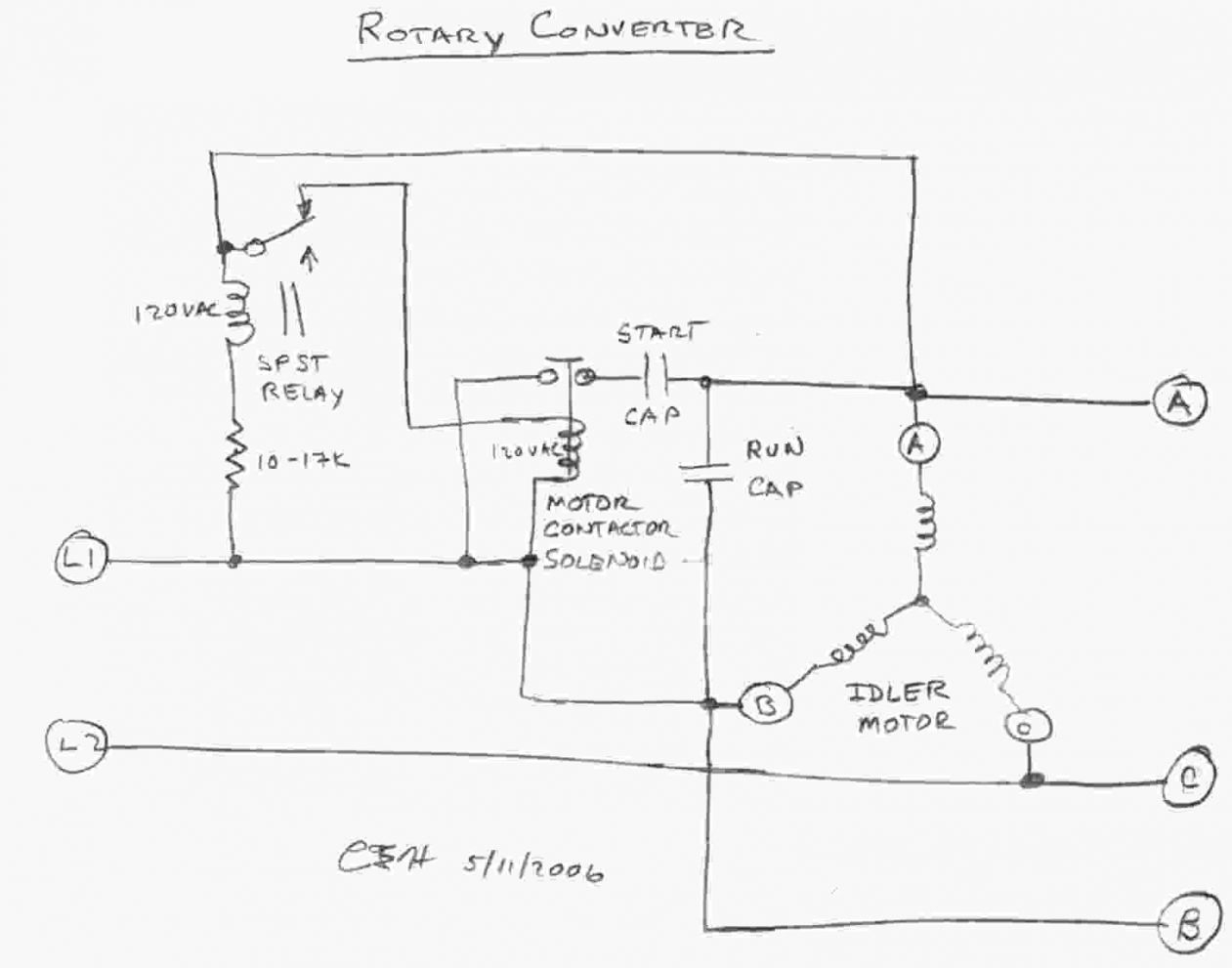 3 Phase Rotary Converter Wiring Diagram Download