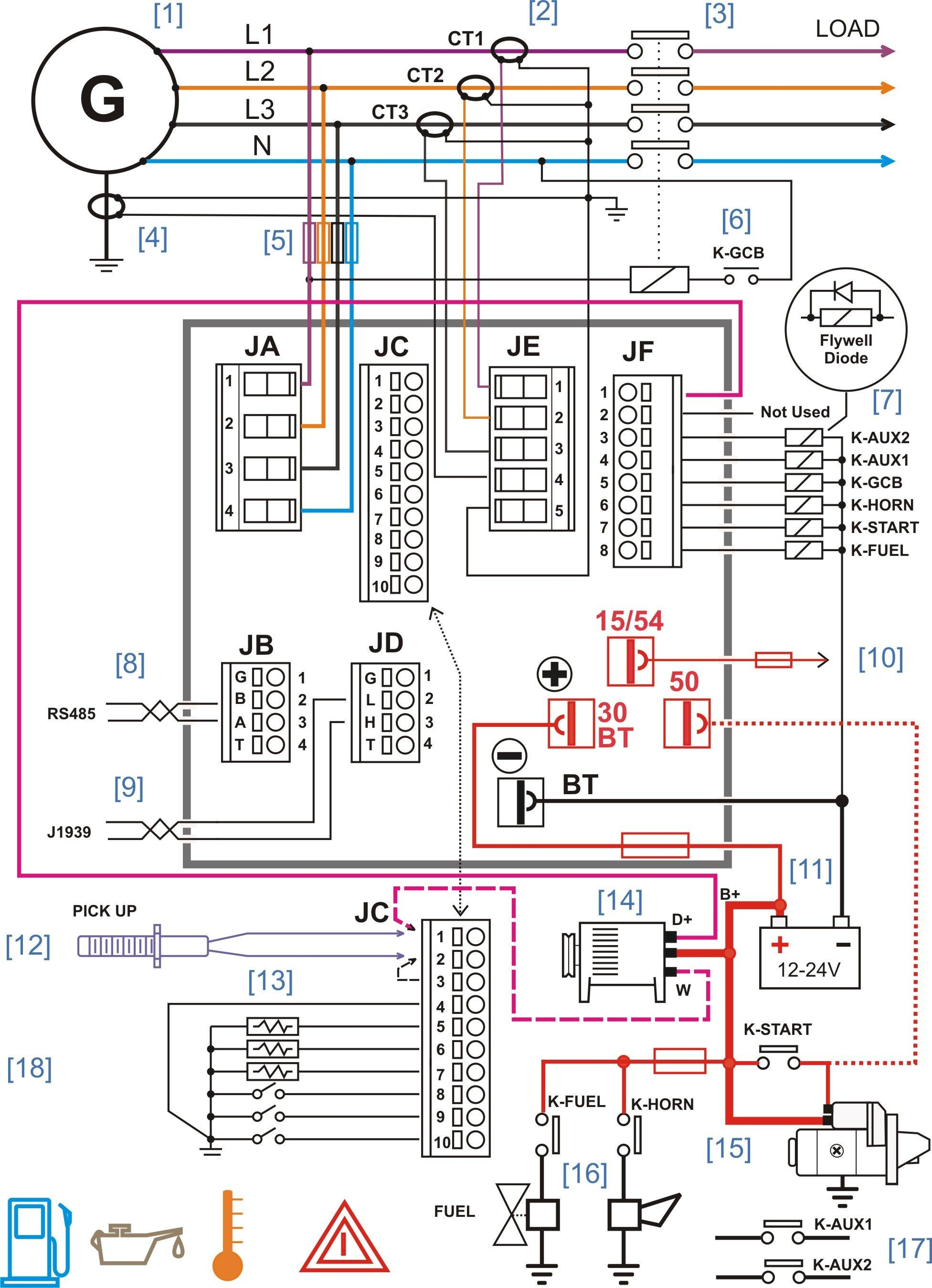 3 Pole Transfer Switch Wiring Diagram - Wiring Diagram 3 Phase Generator  Inspirationa Wiring Diagram Ac