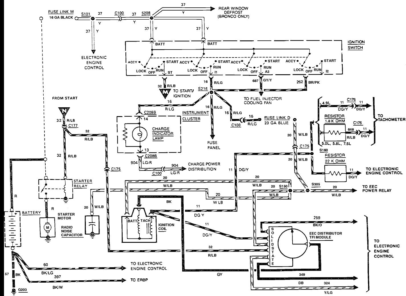 1988 Ford F 150 Basic Ignition Wiring 4 9 300 - Wiring Diagram ... Mallory Breakerless Wiring Diagram on