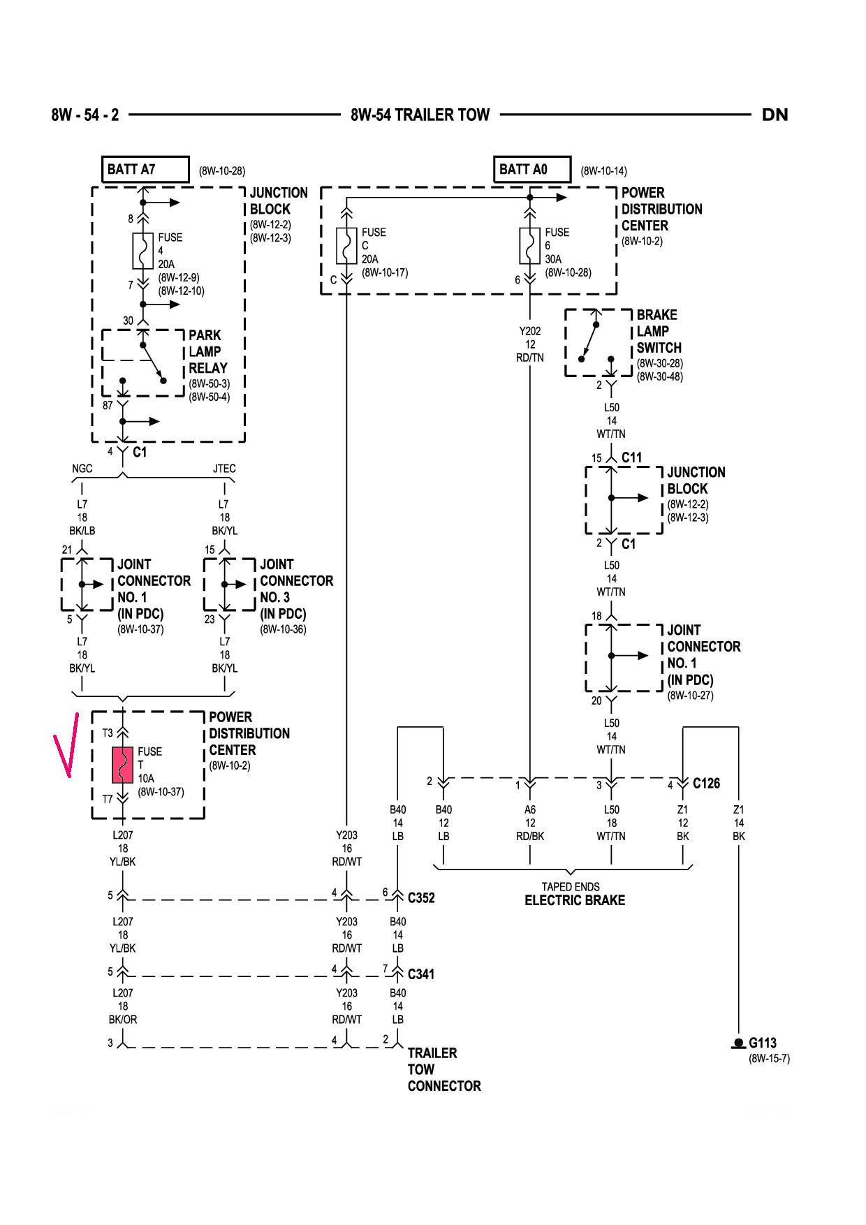 98 Dodge Ram Trailer Wiring Diagram Sample