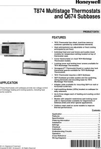 Aaon Rk Series Wiring Diagram - Bryant thermostat Q674 Users Manual 60 2485 T874 Multistage thermostats and Subbases 18t