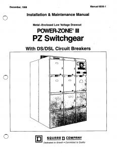 Abb Ai810 Wiring Diagram - 6035 1 Metal Enclosed Low Vole Drawout Power Zone Iii Pz Switchgear with Ds Dsl Circuit 20f