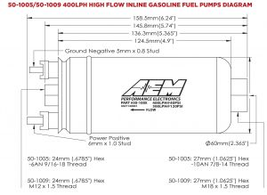 Aem Water Methanol Kit Wiring Diagram - Aem 400lph High Flow In Line Fuel Pump 14n