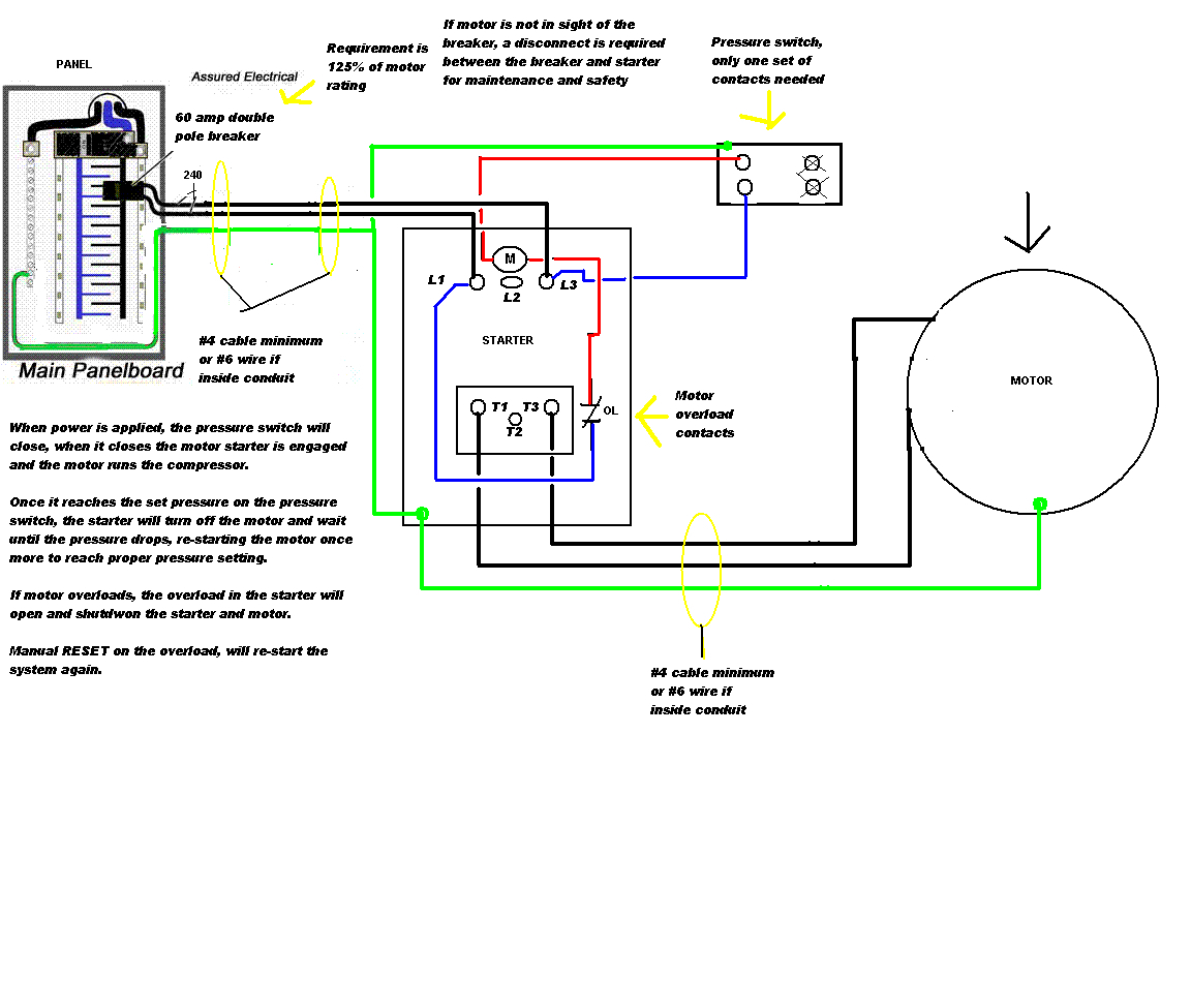 air compressor motor starter wiring diagram Collection-air pressor wiring diagram 230v 1 phase 8-q