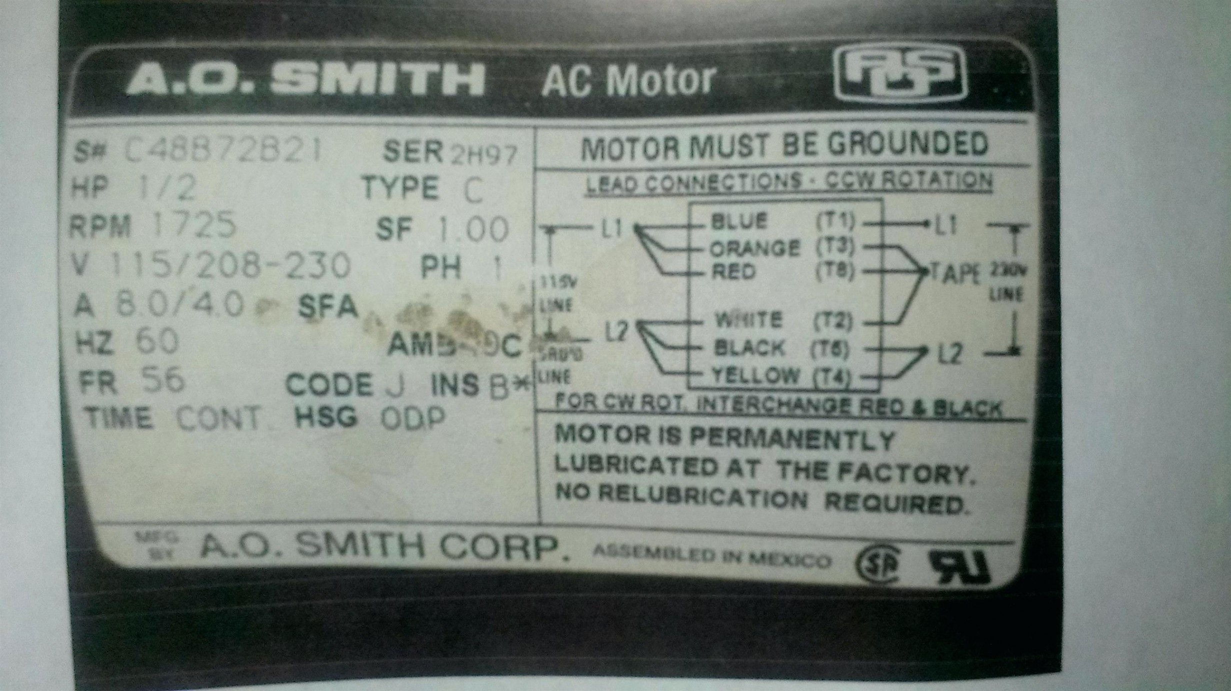 Ao Smith Pool Pump Motor Wiring Diagram from wholefoodsonabudget.com