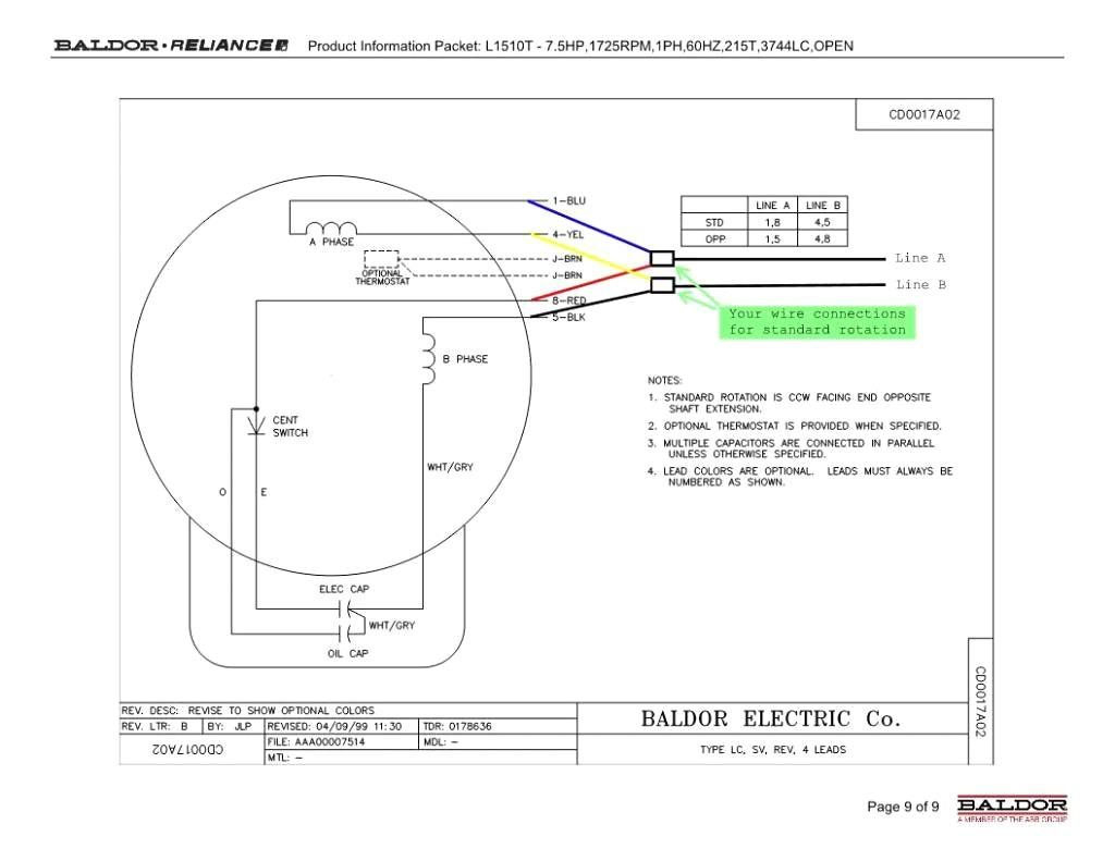 baldor 5hp motor wiring diagram Download-baldor motor capacitor wiring diagram l1410t baldor electric motors rh lambdarepos org 15-k