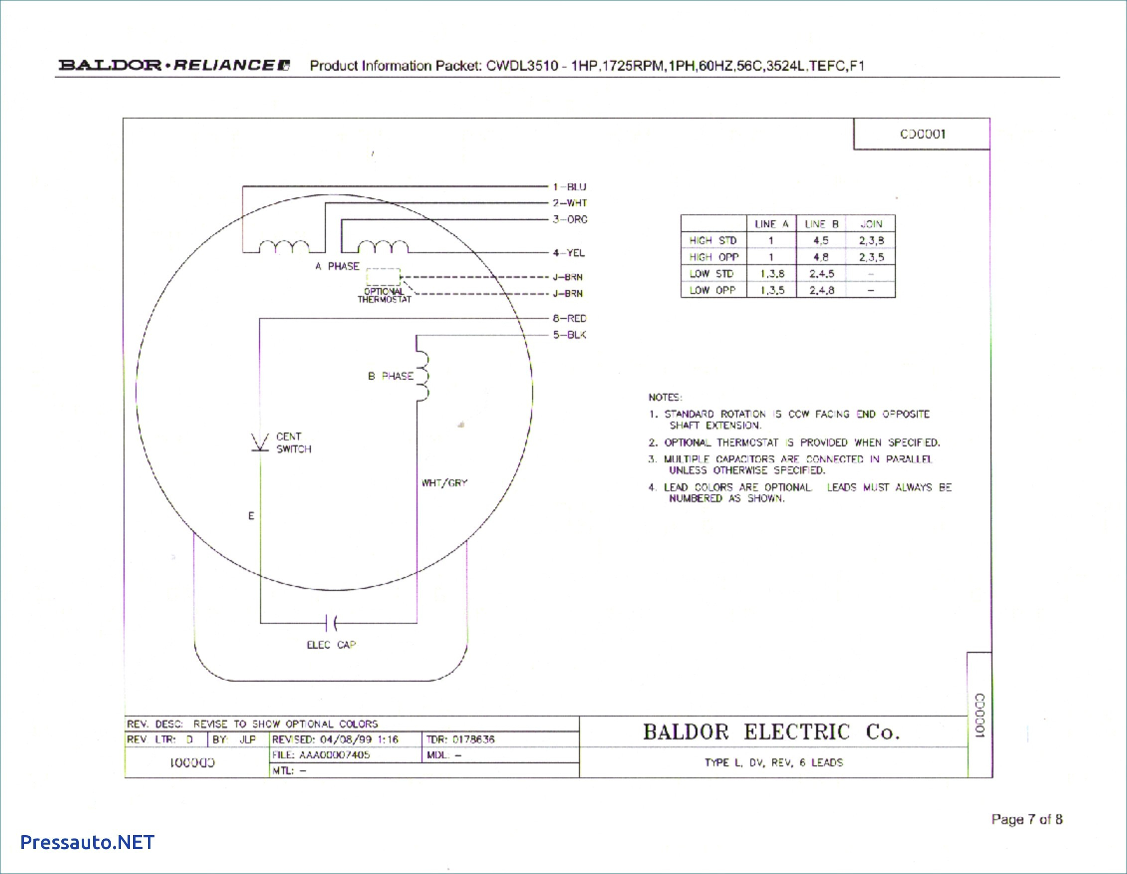 Baldor L1410t    Wiring       Diagram    Sample