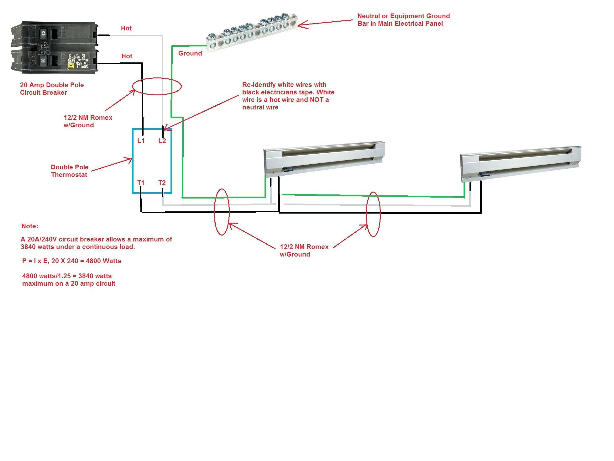 baseboard heater thermostat wiring diagram Download-Wiring Diagram 240v Baseboard Heater Thermostat Best Bright 220v 19-k