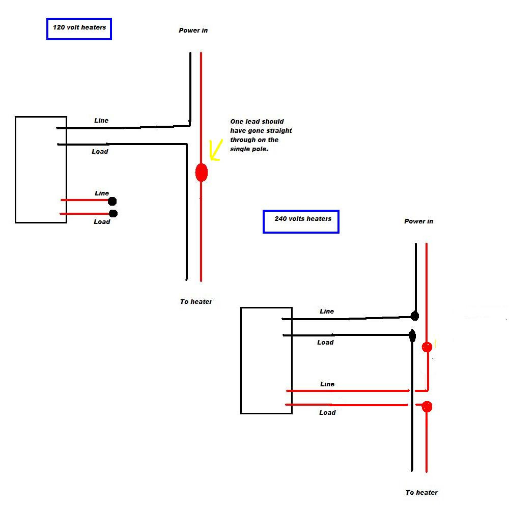 Baseboard Heater Thermostat Wiring Diagram Sample