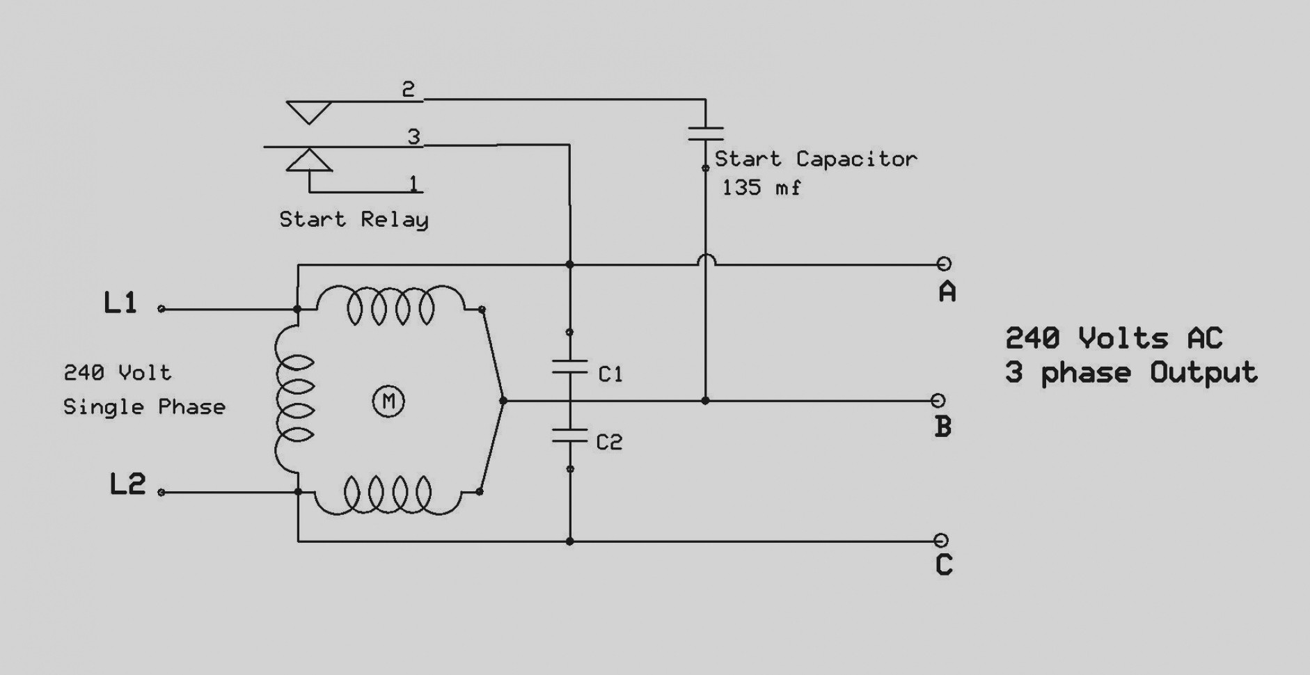 Motor Starter Wiring Diagram With 480v 3 Phase Input To Two 240v Single Phase Heayers
