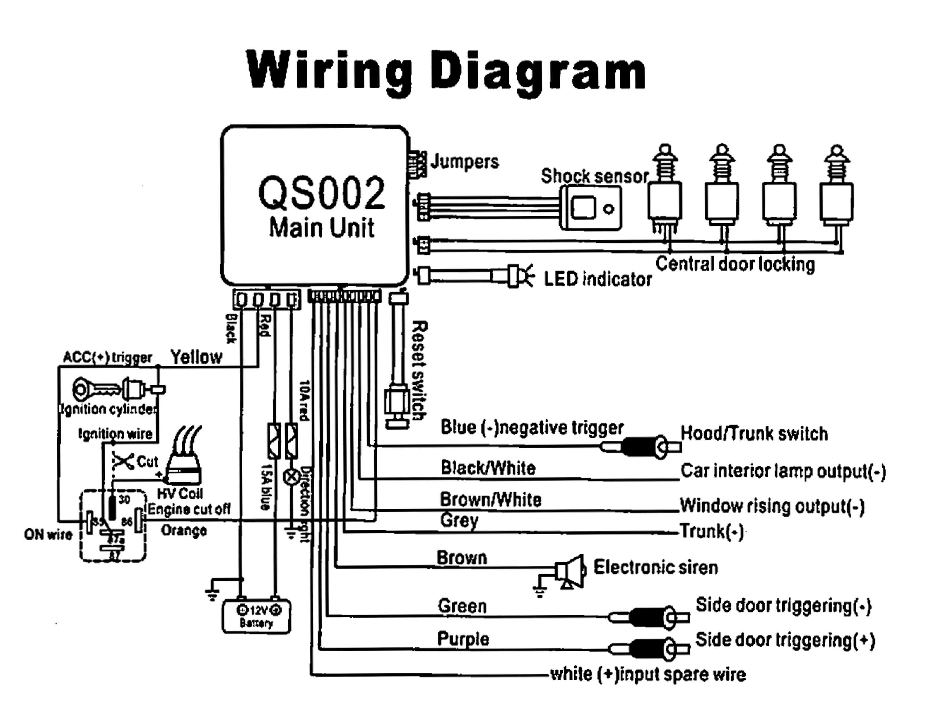 Moss Car Alarm Wiring Diagram