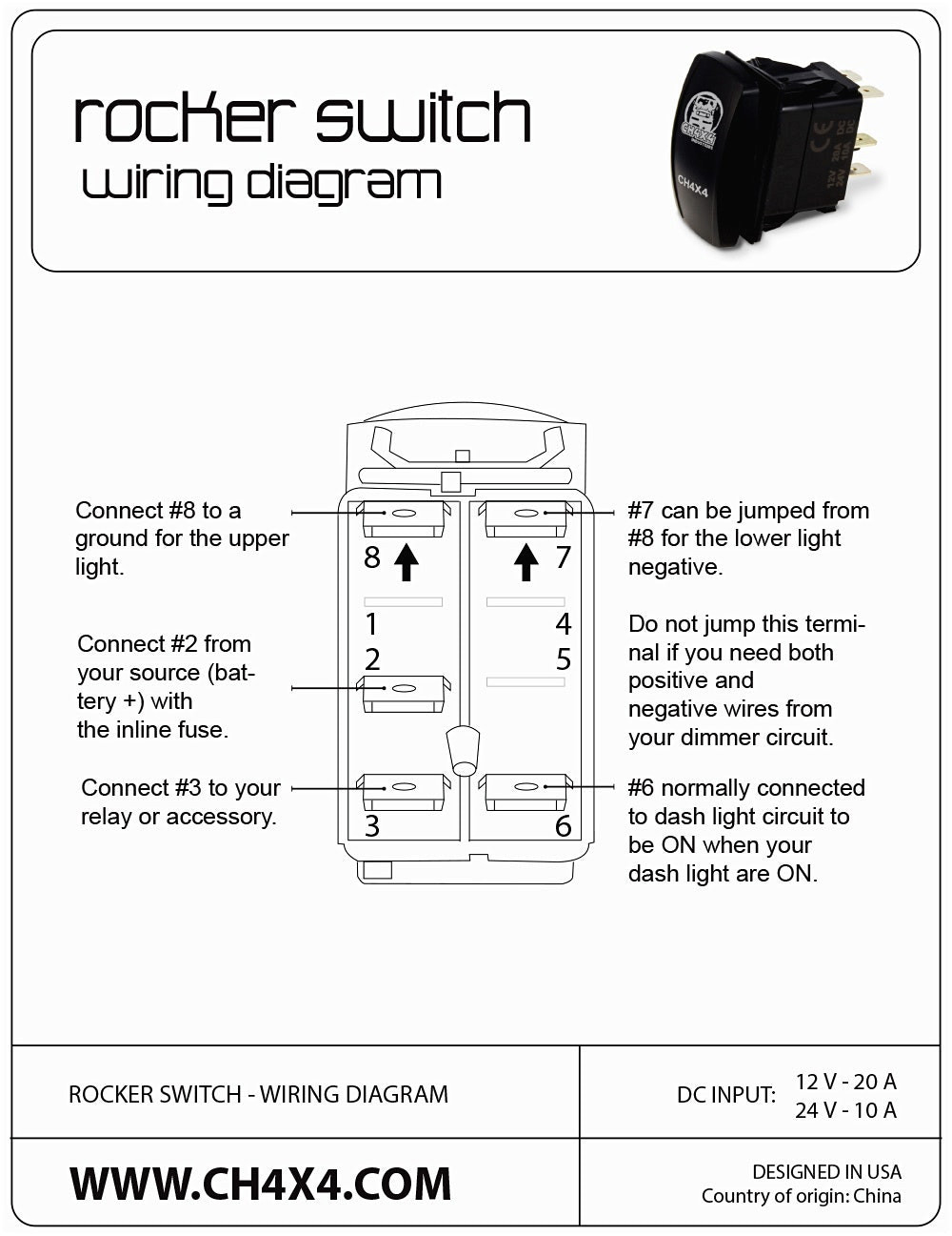 carling technologies rocker switch wiring diagram download for diagram rocker wire switch volvo20470609 #5
