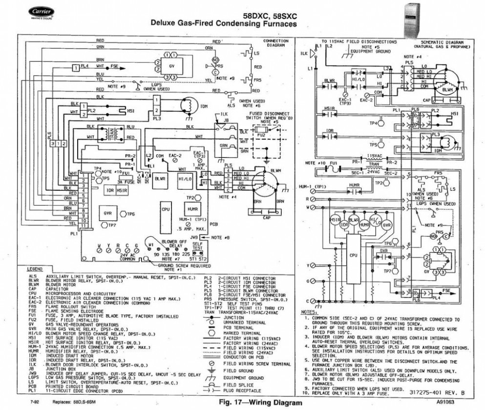 carrier furnace wiring diagram gallery