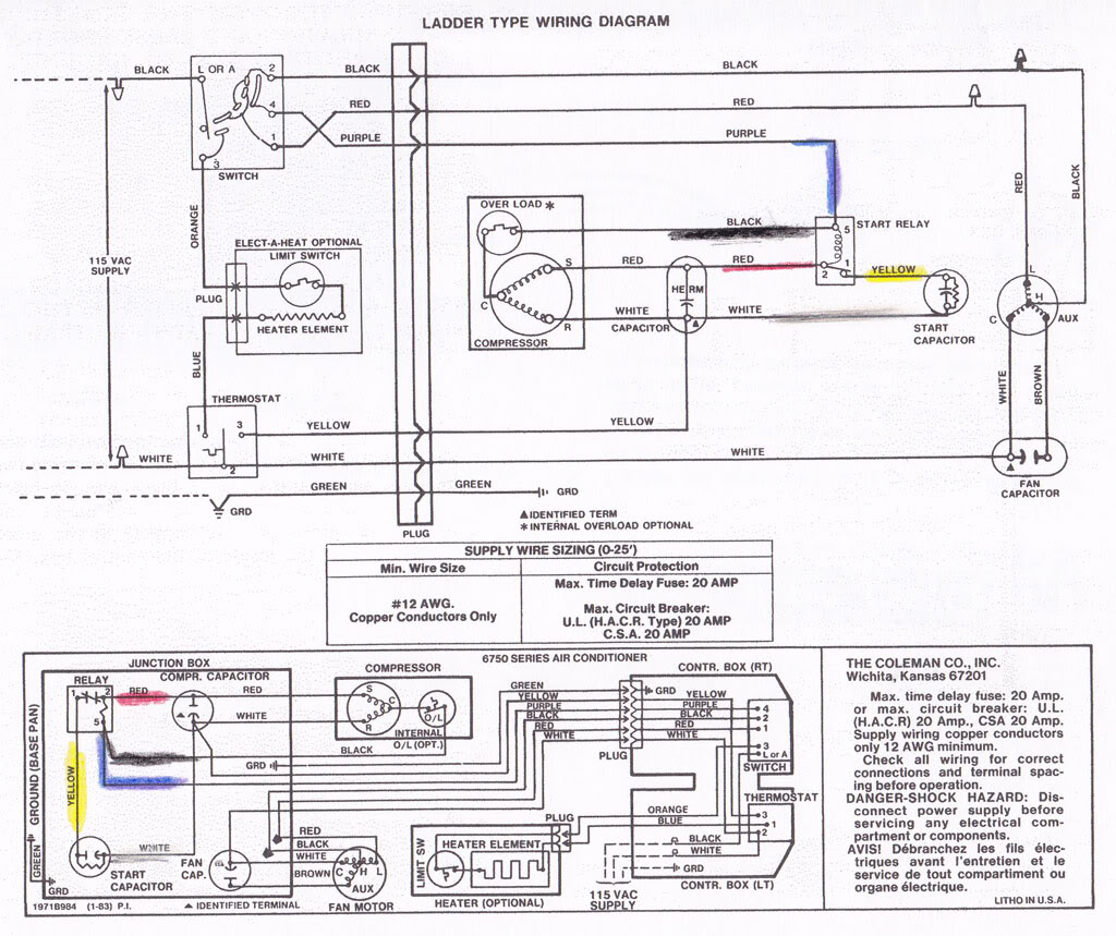 Diagram Coleman Rv Air Conditioner Wiring Diagram