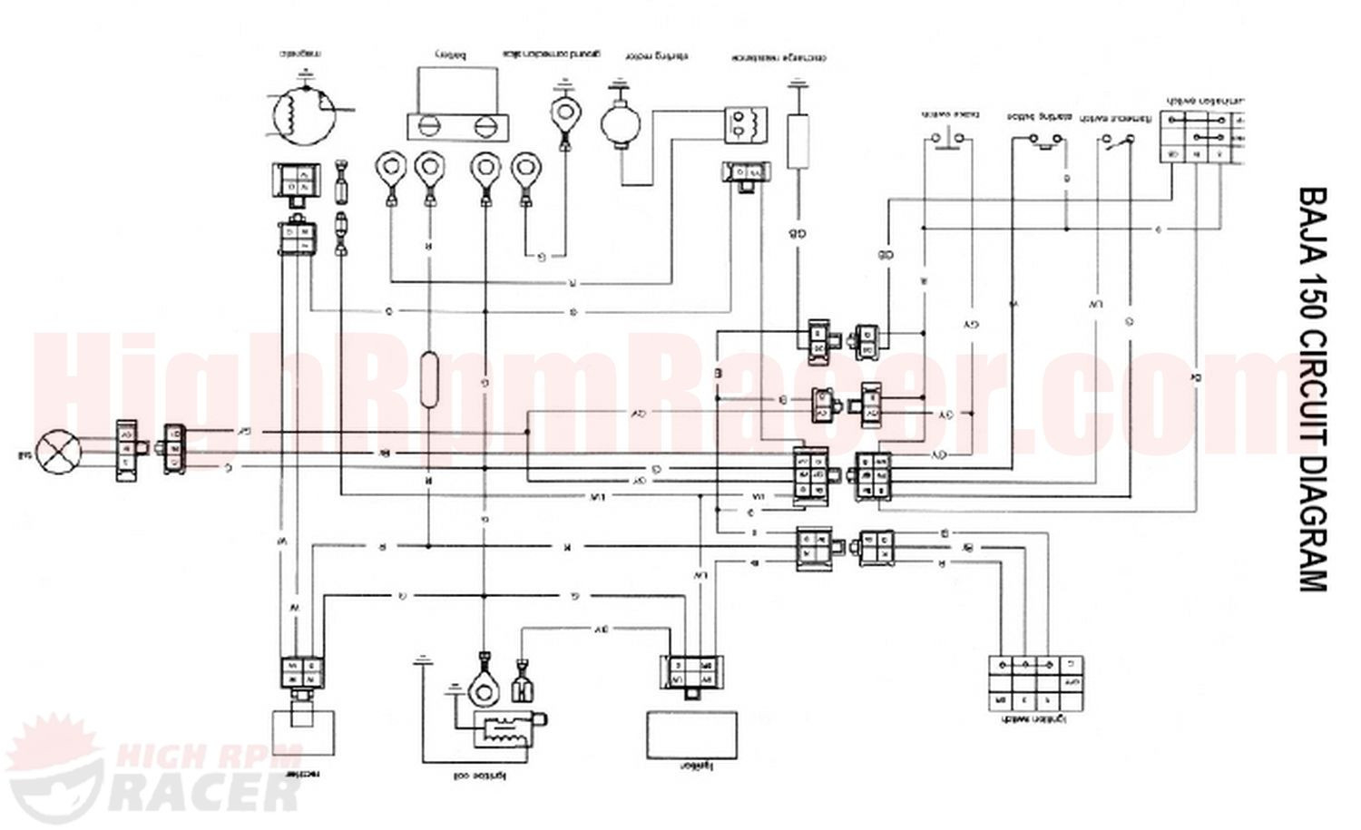 Baja 250 atv wiring diagrams