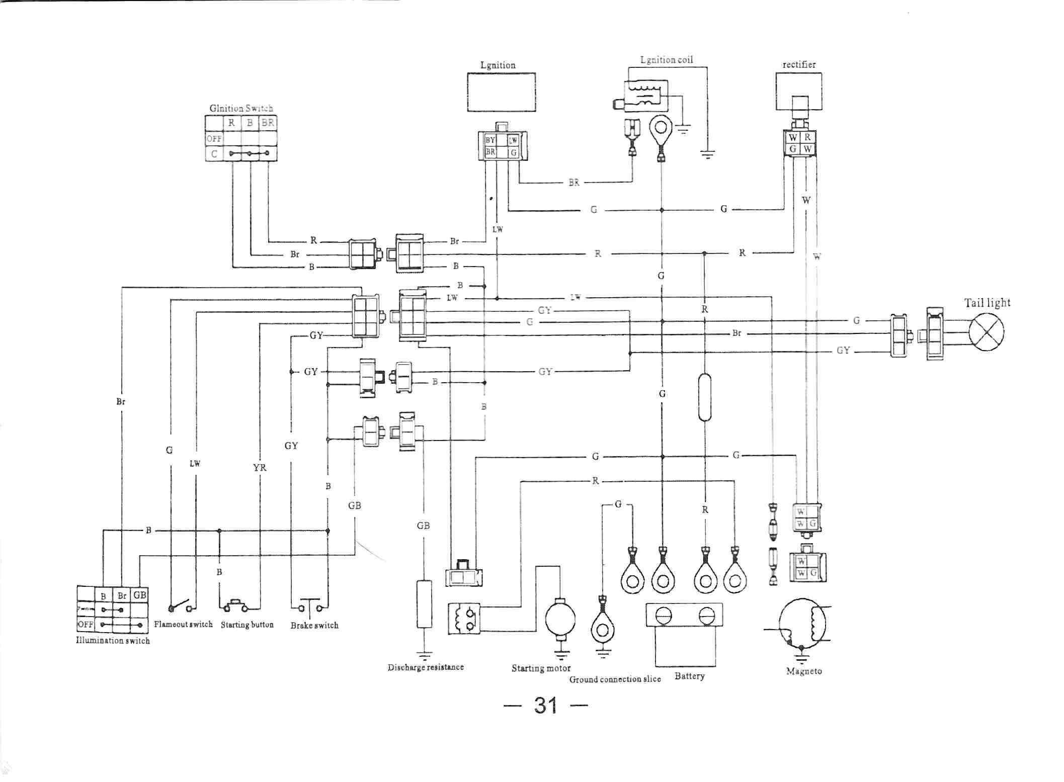 125cc Atv Wiring Schematics Diagrams Coil Images Gallery