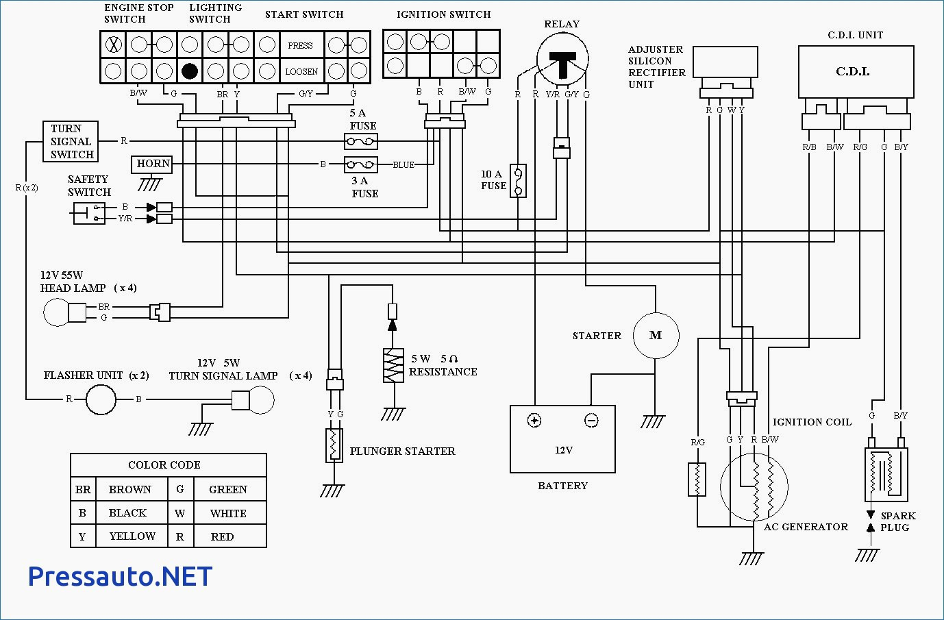 [NRIO_4796]   43D658 5 Wire Wiring Diagram 125cc | Wiring Resources | Wiring Diagram For Yahama Ytm 225dx |  | Wiring Resources