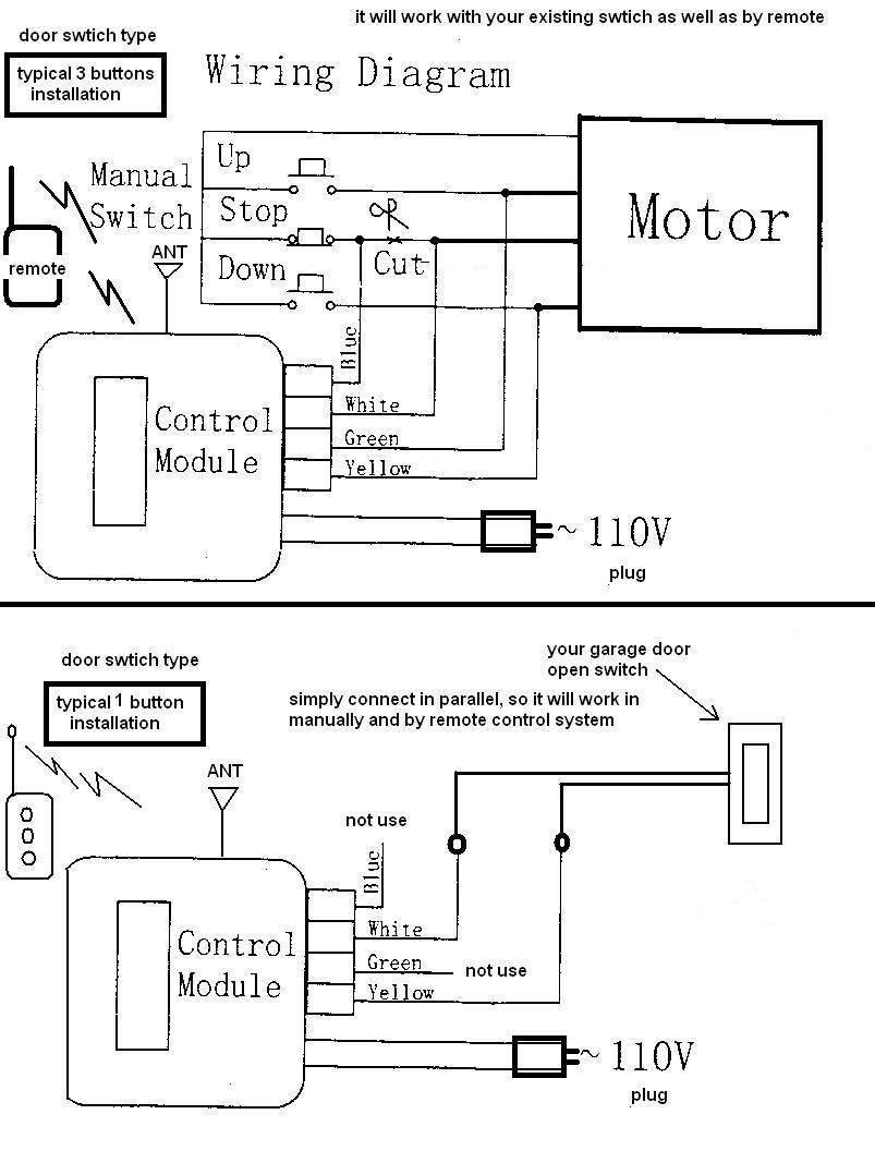 craftsman garage door opener wiring diagram sample
