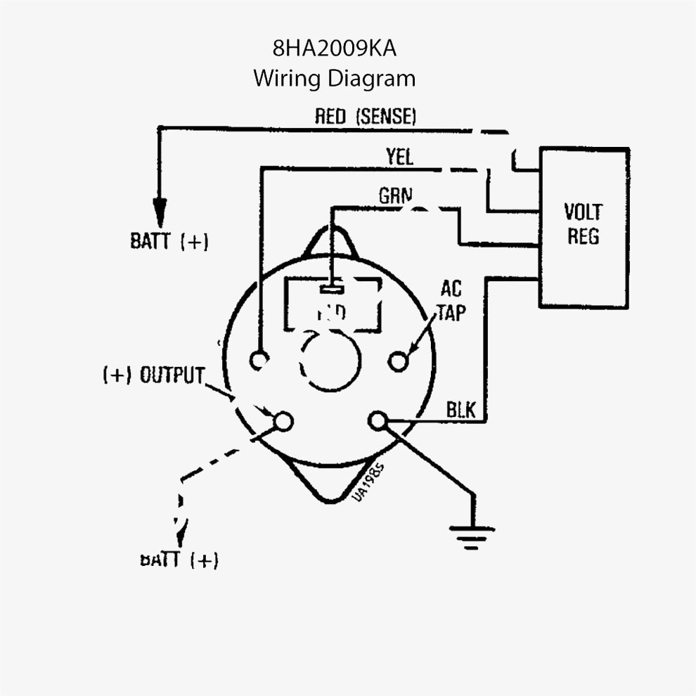 Ford 4 Wire Alternator Diagram - Wiring Diagrams Set  Wire Delco Alternator Wiring Diagram Tach on