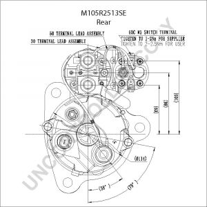 Delco Remy Starter Wiring Diagram - M105r2513se Rear Dim Drawing 7g