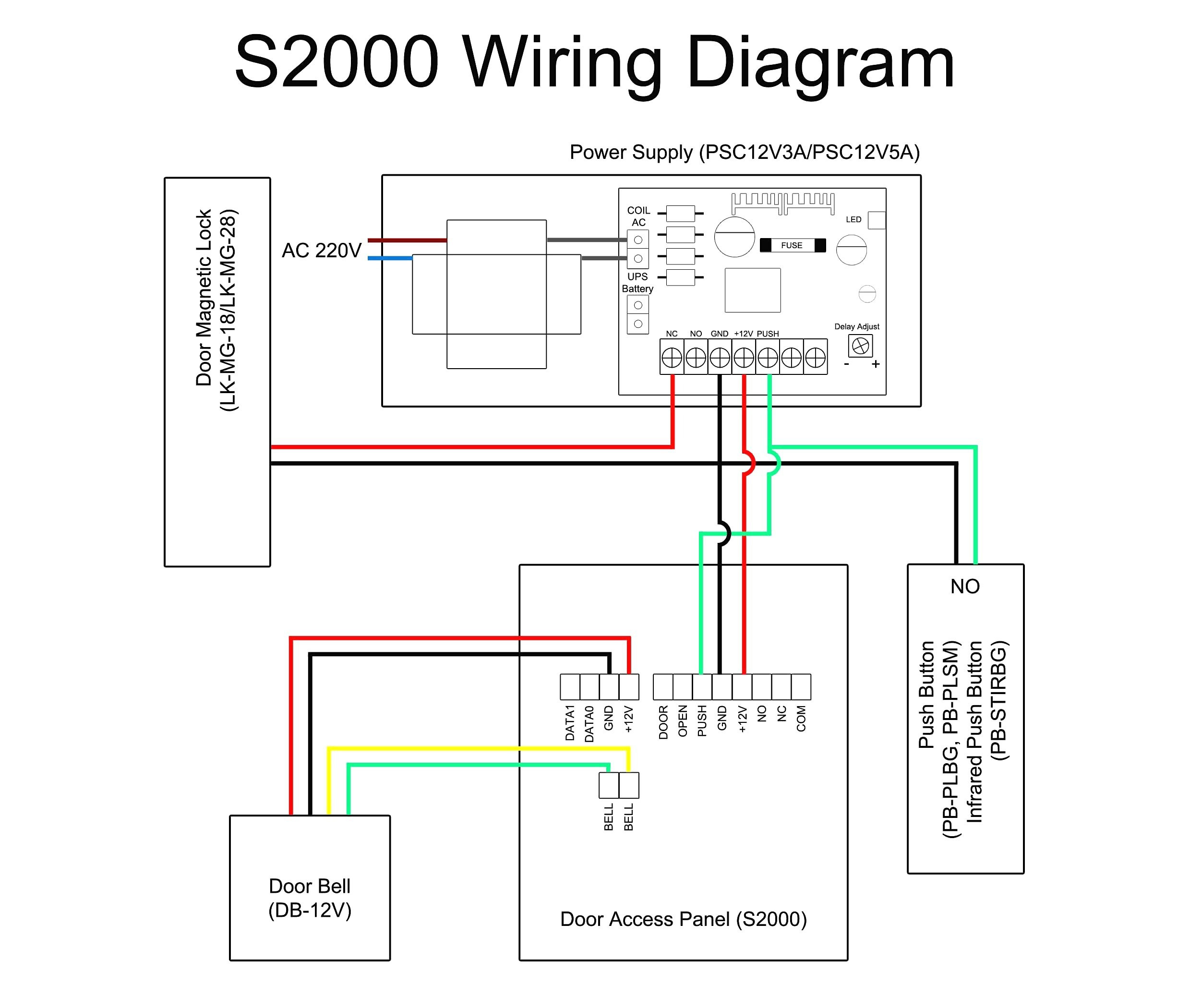 door access control wiring diagram Collection-Wiring Diagram Security System Best Wiring Diagram for Electric Door Bell Fresh Bunker Hill Security 8-s