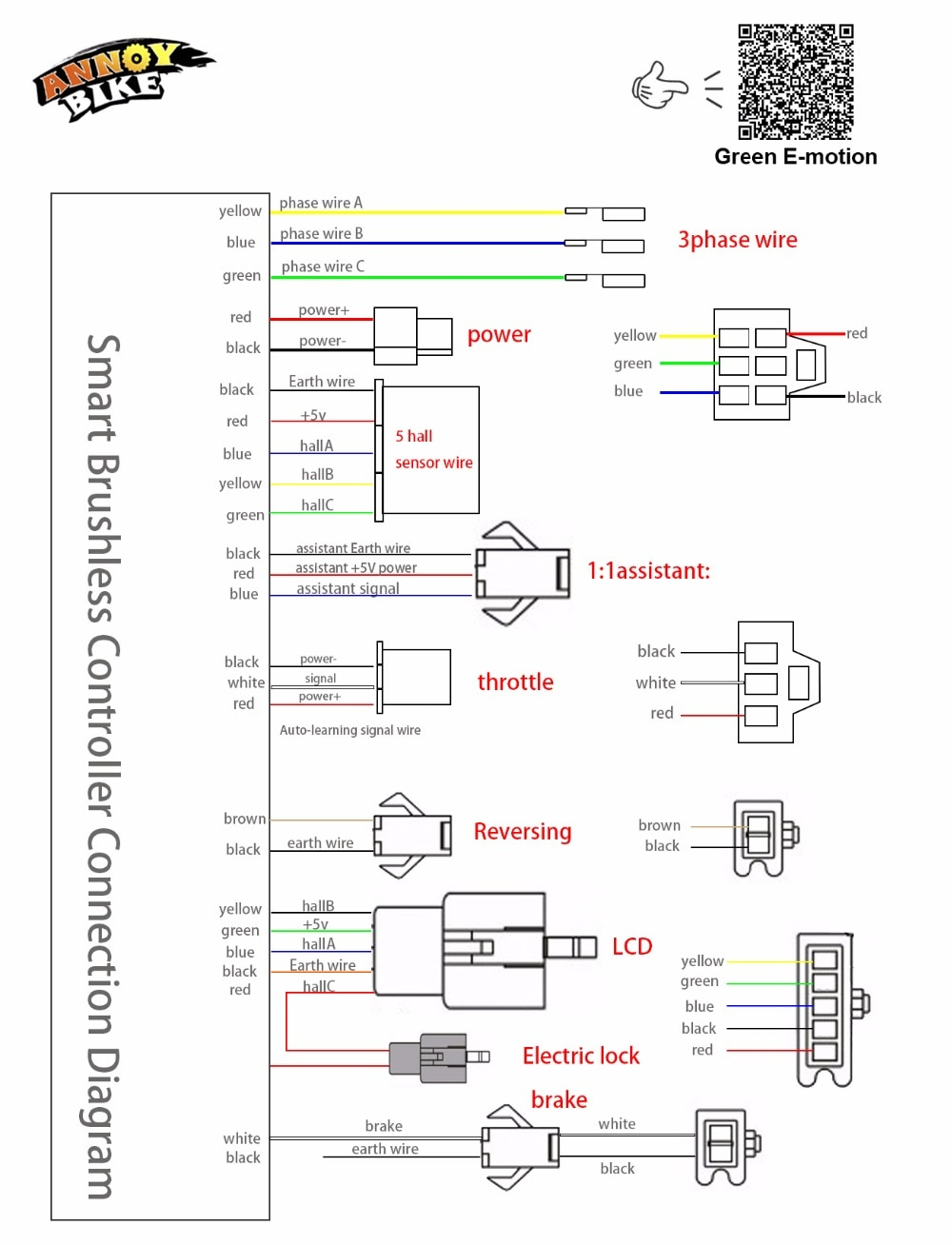 E Bike Controller Wiring Diagram Gallery