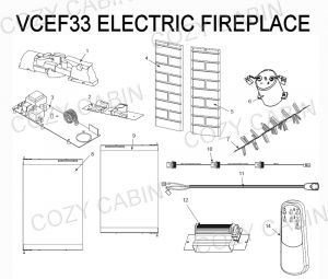 Electric Fireplace Wiring Diagram - Electric Fireplace Vcef33 19k