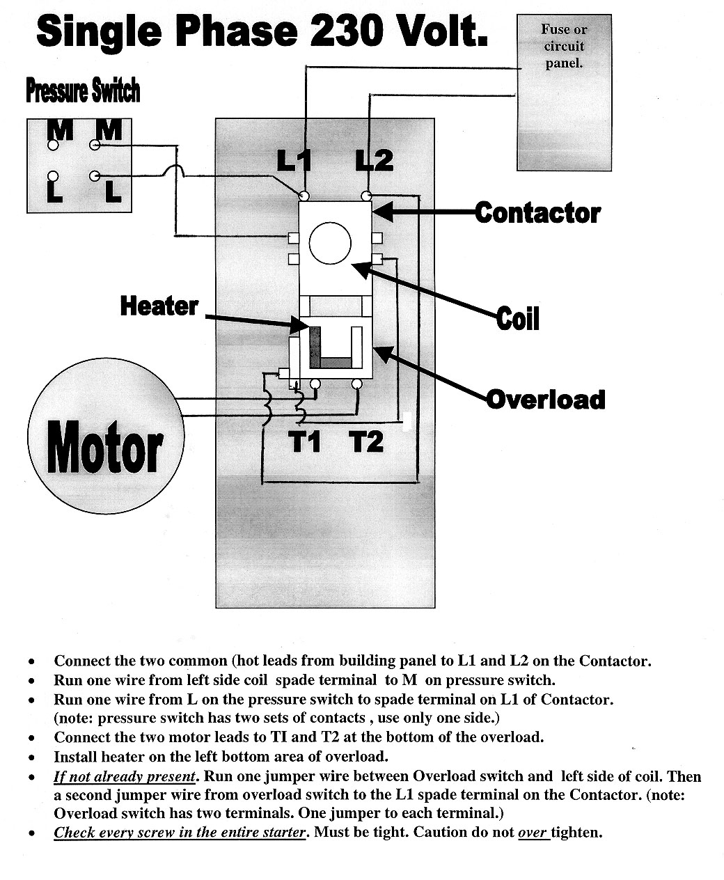 electrical contactor wiring diagram download. Black Bedroom Furniture Sets. Home Design Ideas