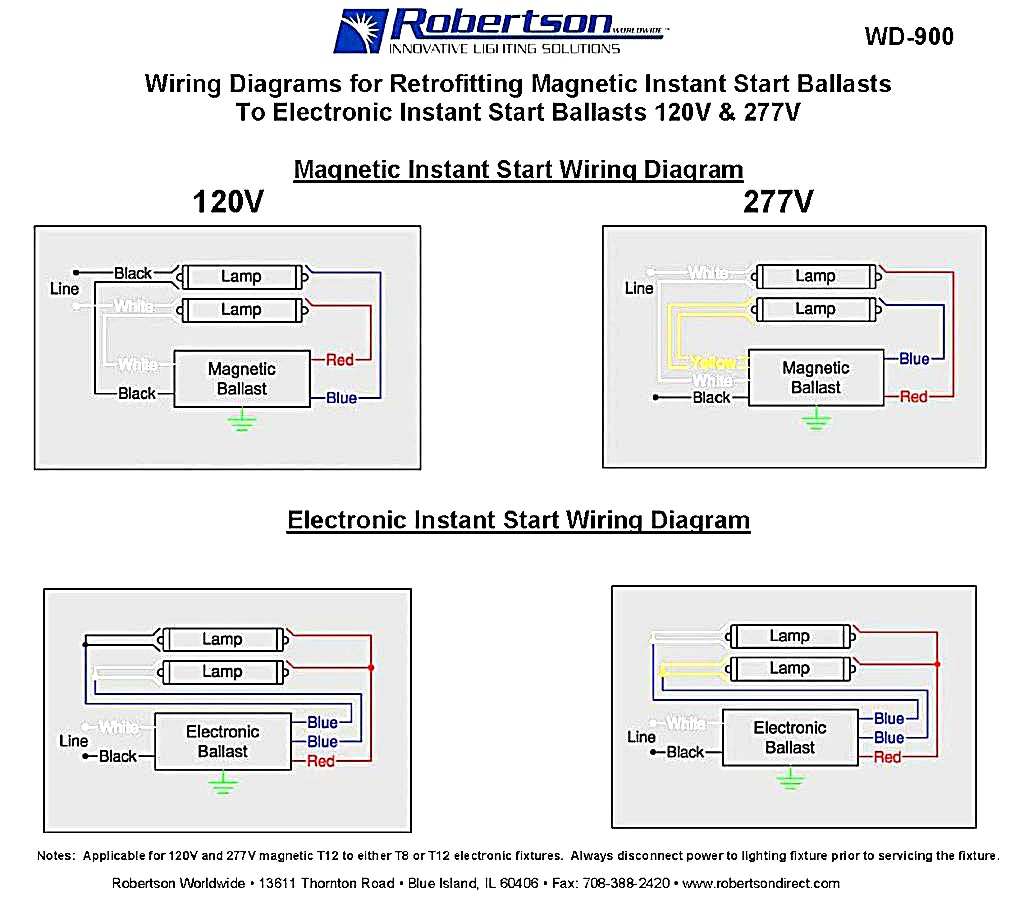Electronic Ballast Wiring Diagram Collection