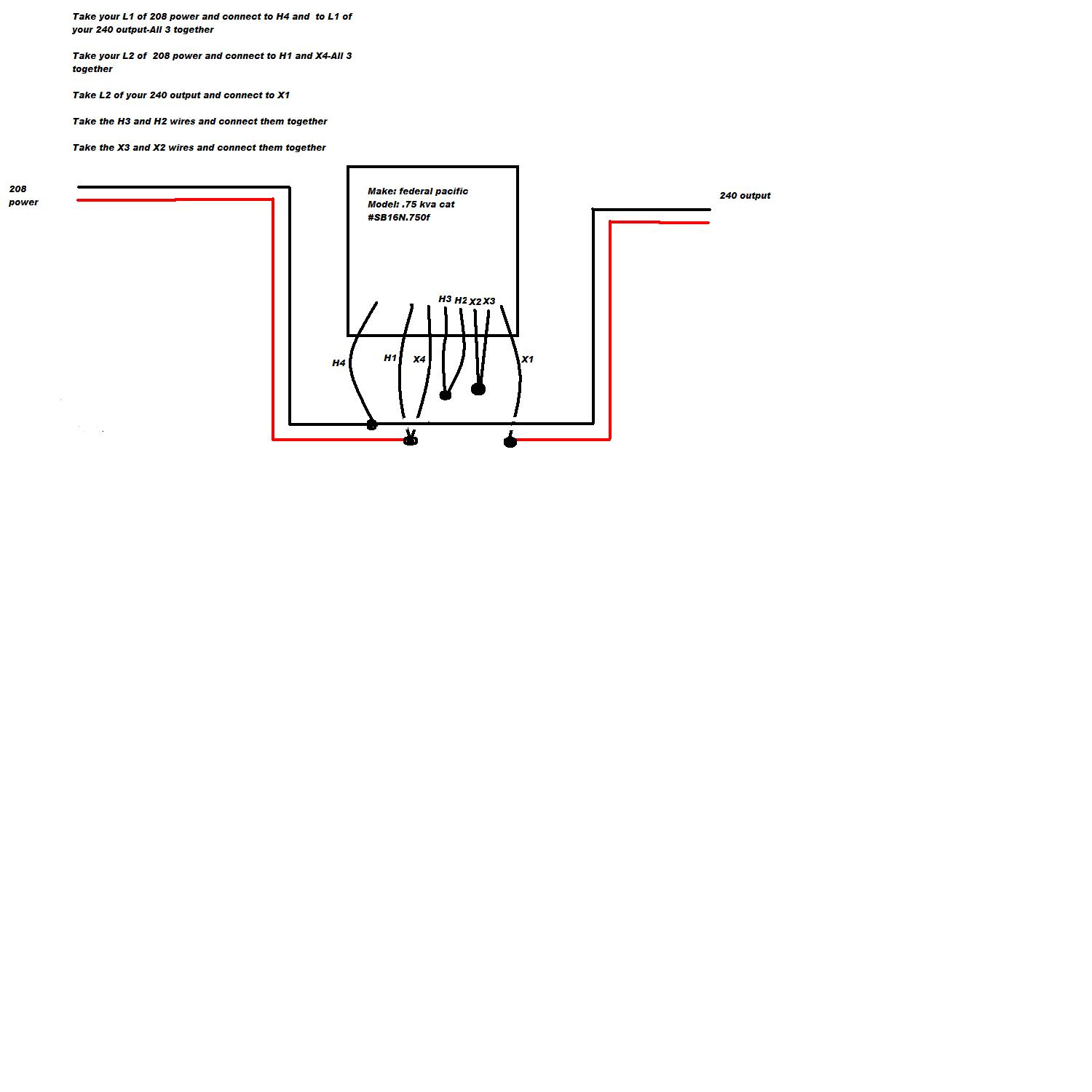 Federal Pacific Buck Boost Transformer Wiring Diagram Sample