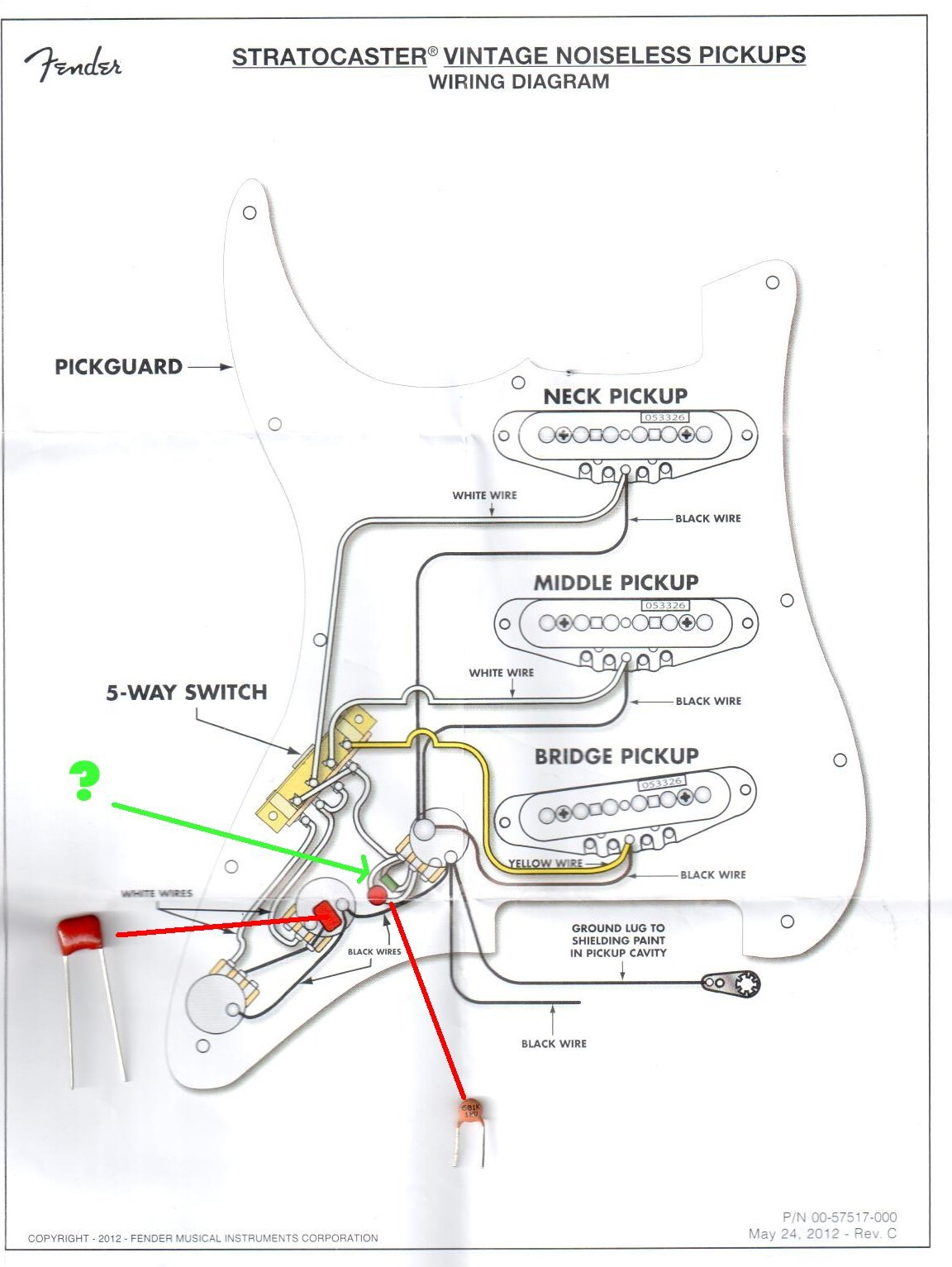 Fender stratocaster noiseless wiring diagram