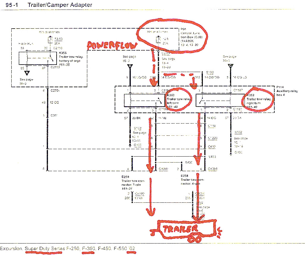 ford f250 wiring diagram for trailer lights Collection-Trailer Tow Wiring Diagram In Ford F250 14-e