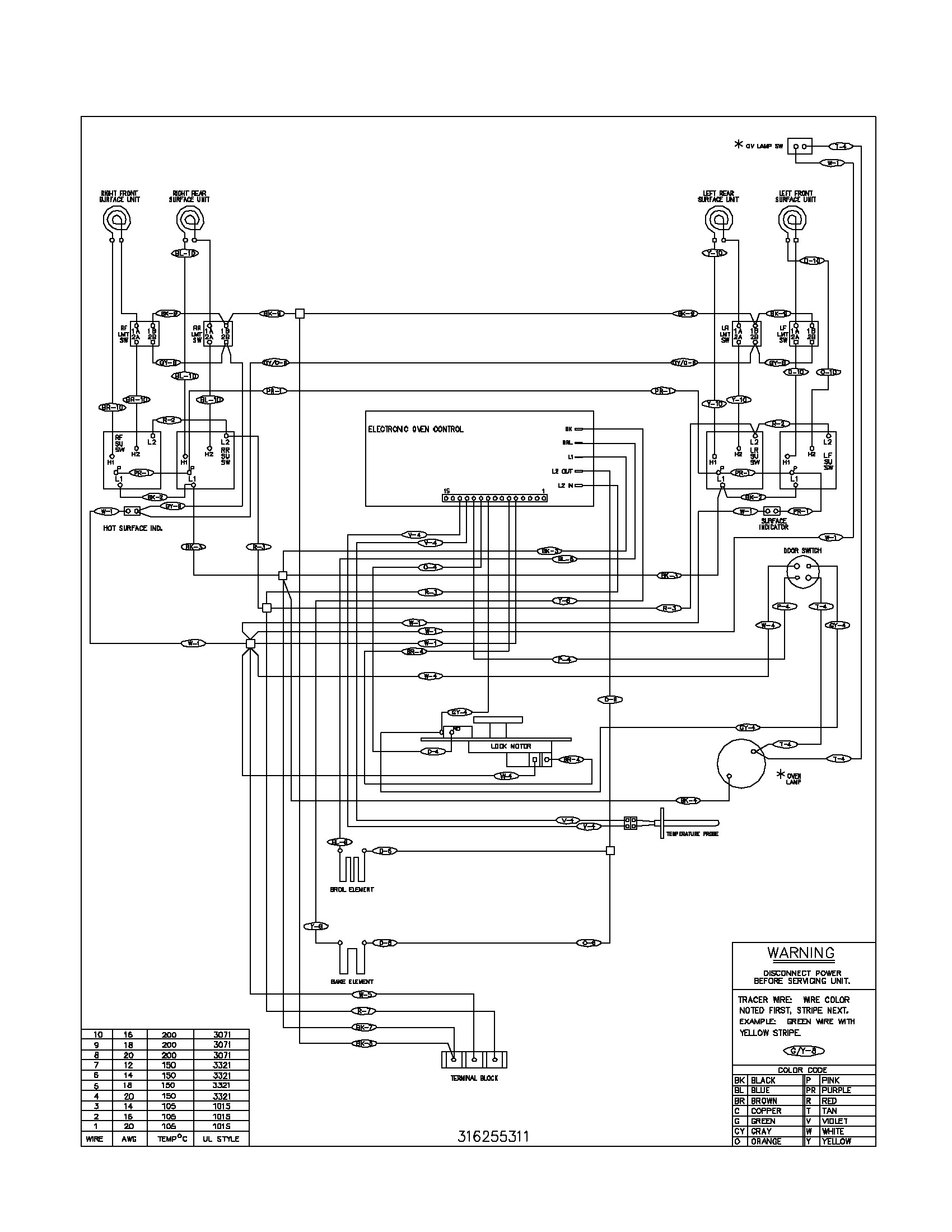 frigidaire wall oven wiring diagram sample