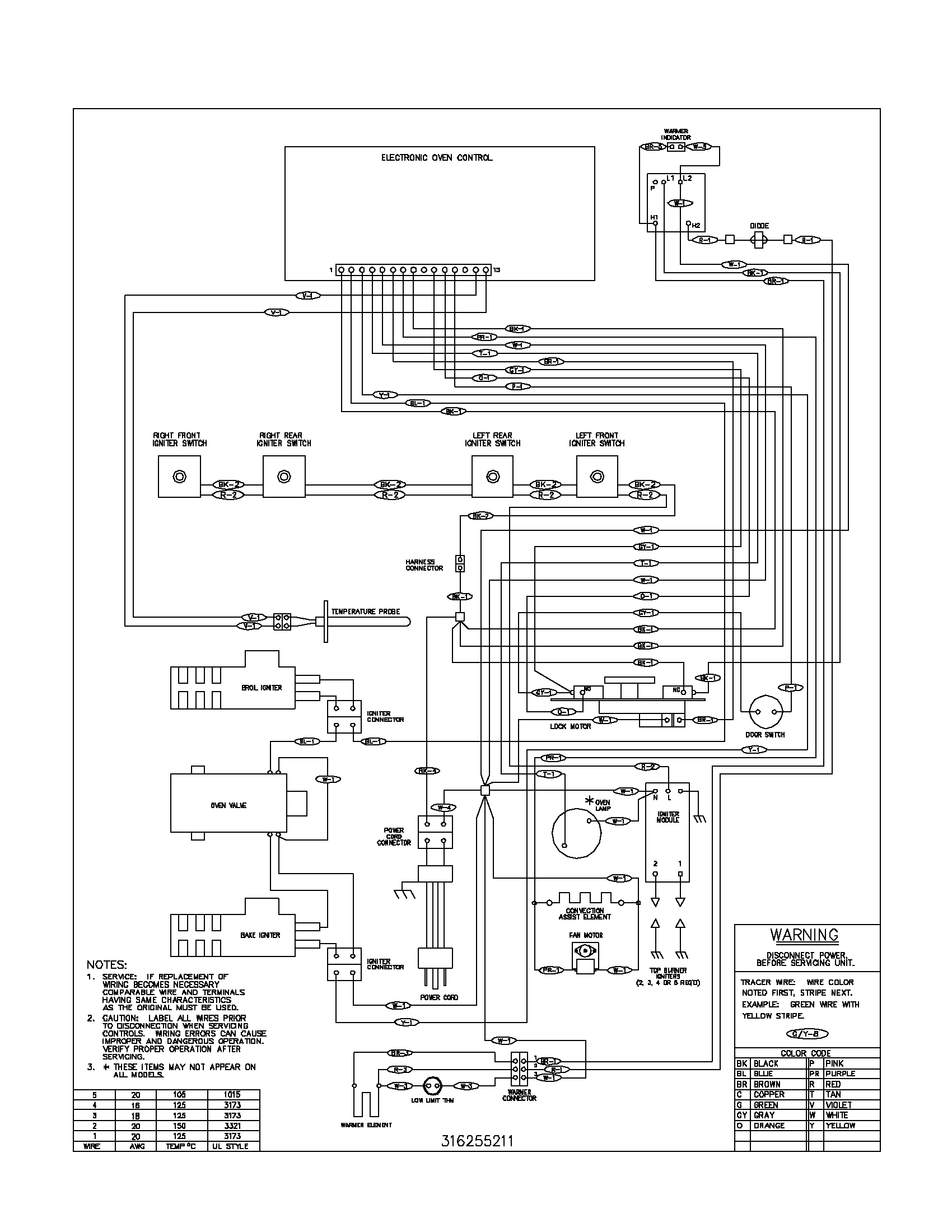 frigidaire electric oven wiring diagram frigidaire oven wiring diagram