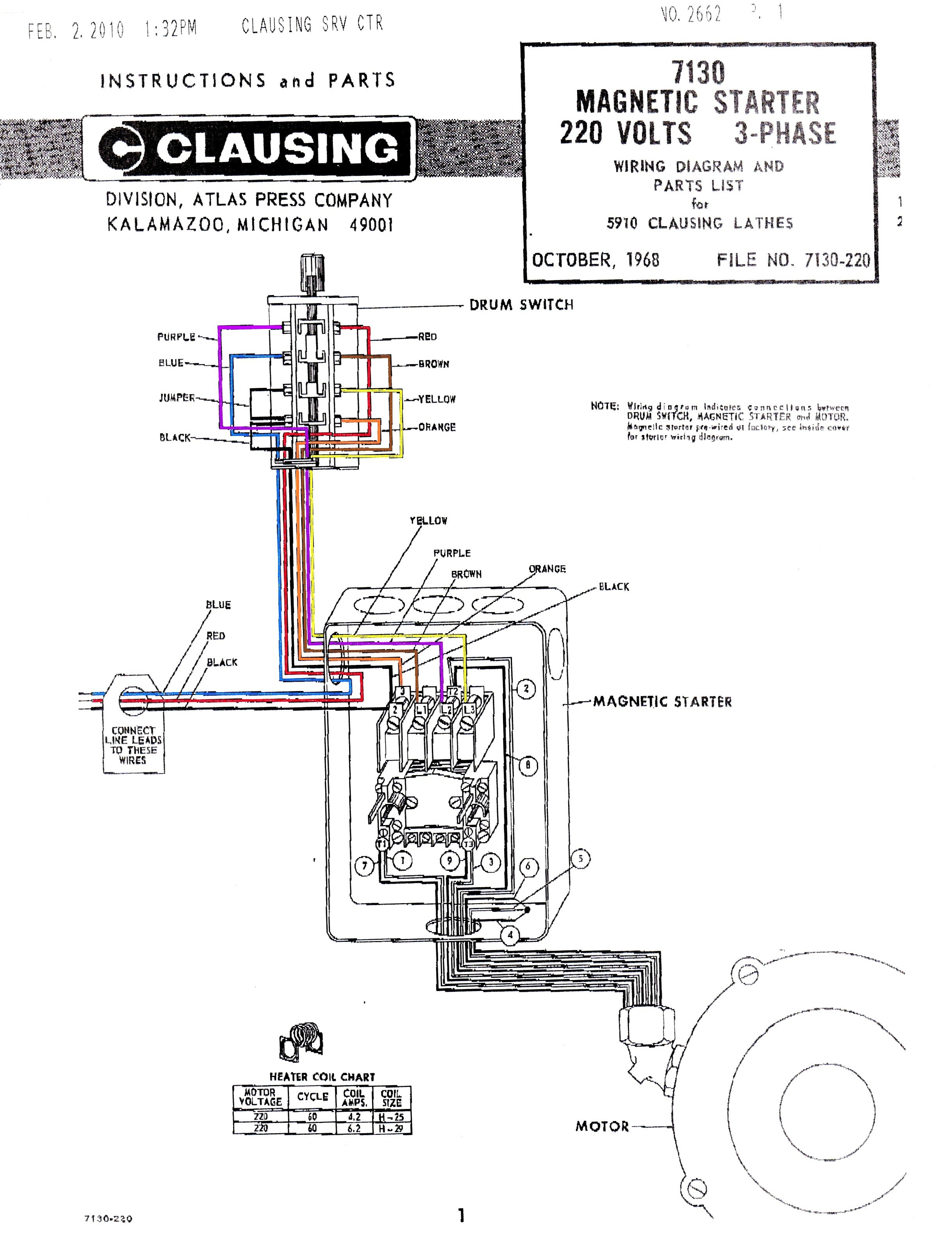 Magnetic Starter Schematic | Wiring Diagram on