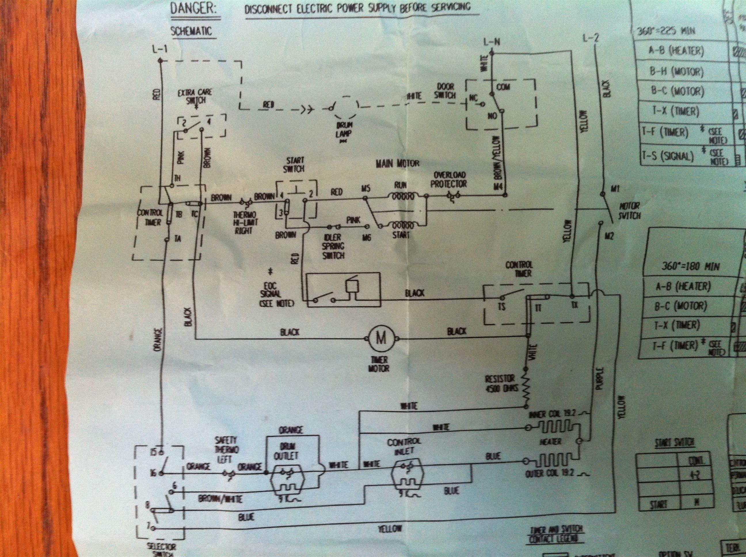 ge dryer timer wiring diagram Collection-Ge Dryer Start Switch Wiring Diagram Fresh Ge Dryer Wiring Diagram 12-n