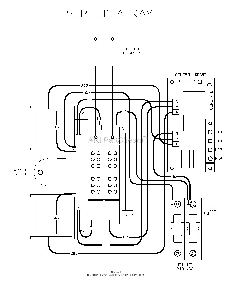 generator transfer box wiring diagram